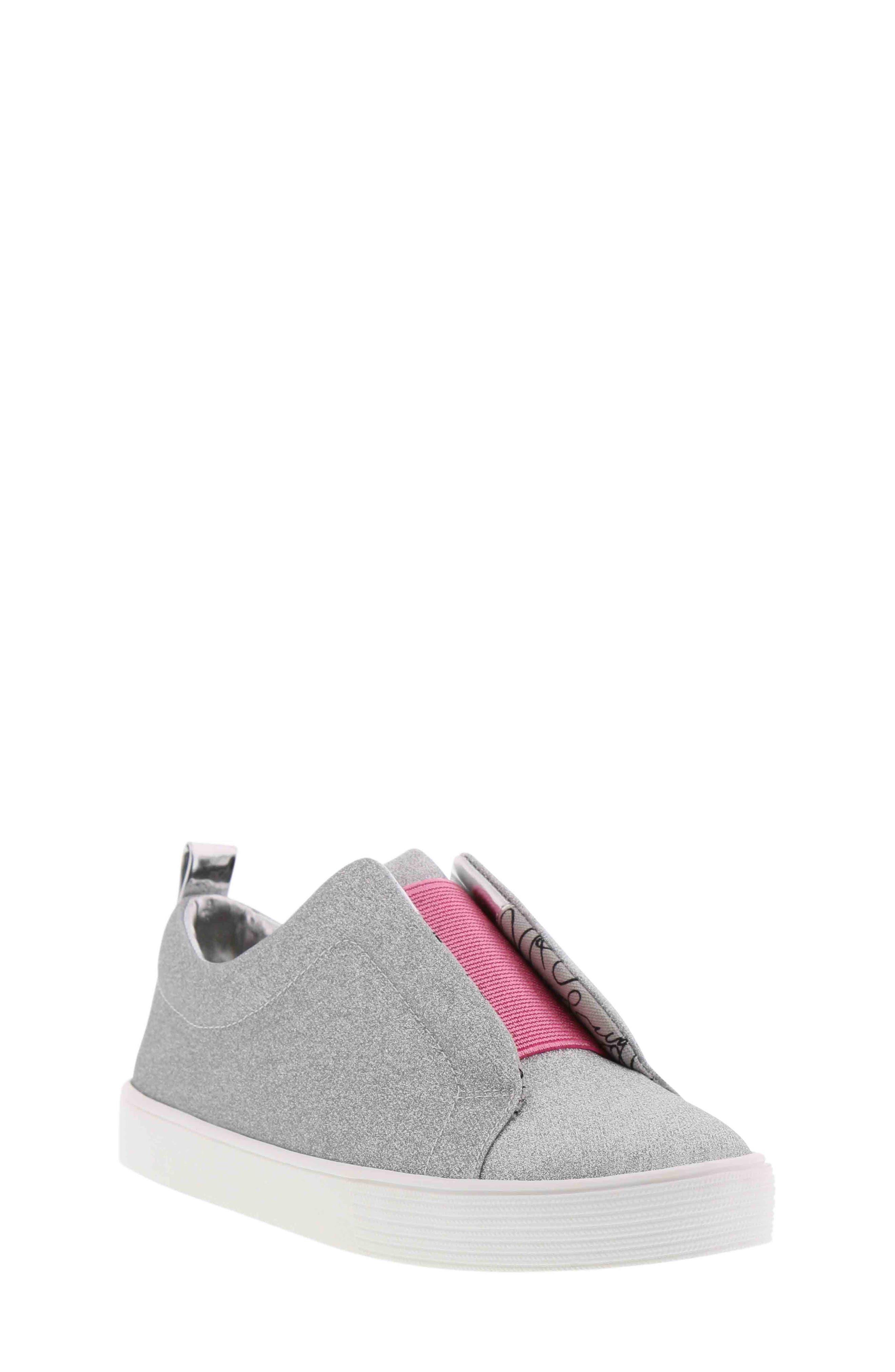 Bella Emma Slip-On Sneaker,                             Main thumbnail 1, color,                             SILVER GLITTER