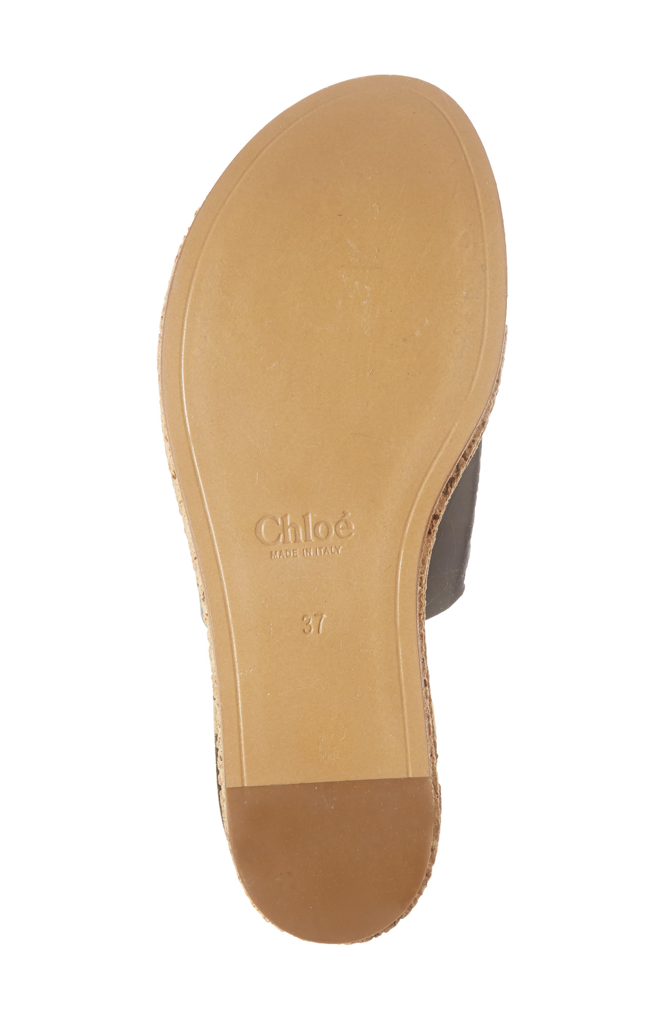 CHLOÉ,                             Camille Cork Platform Sandal,                             Alternate thumbnail 6, color,                             BLACK