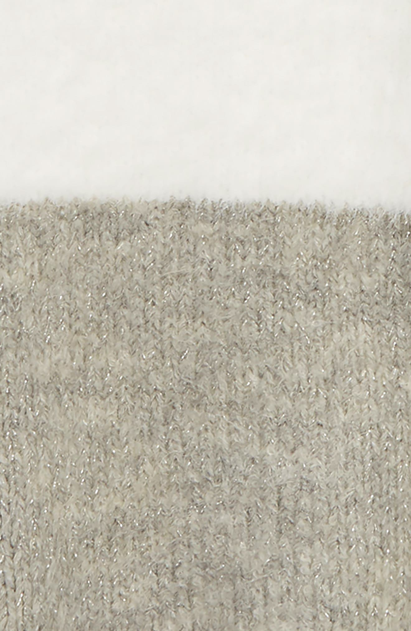 Fuzzy Colorblock Sweater,                             Alternate thumbnail 2, color,                             IVORY EGRET- GREY