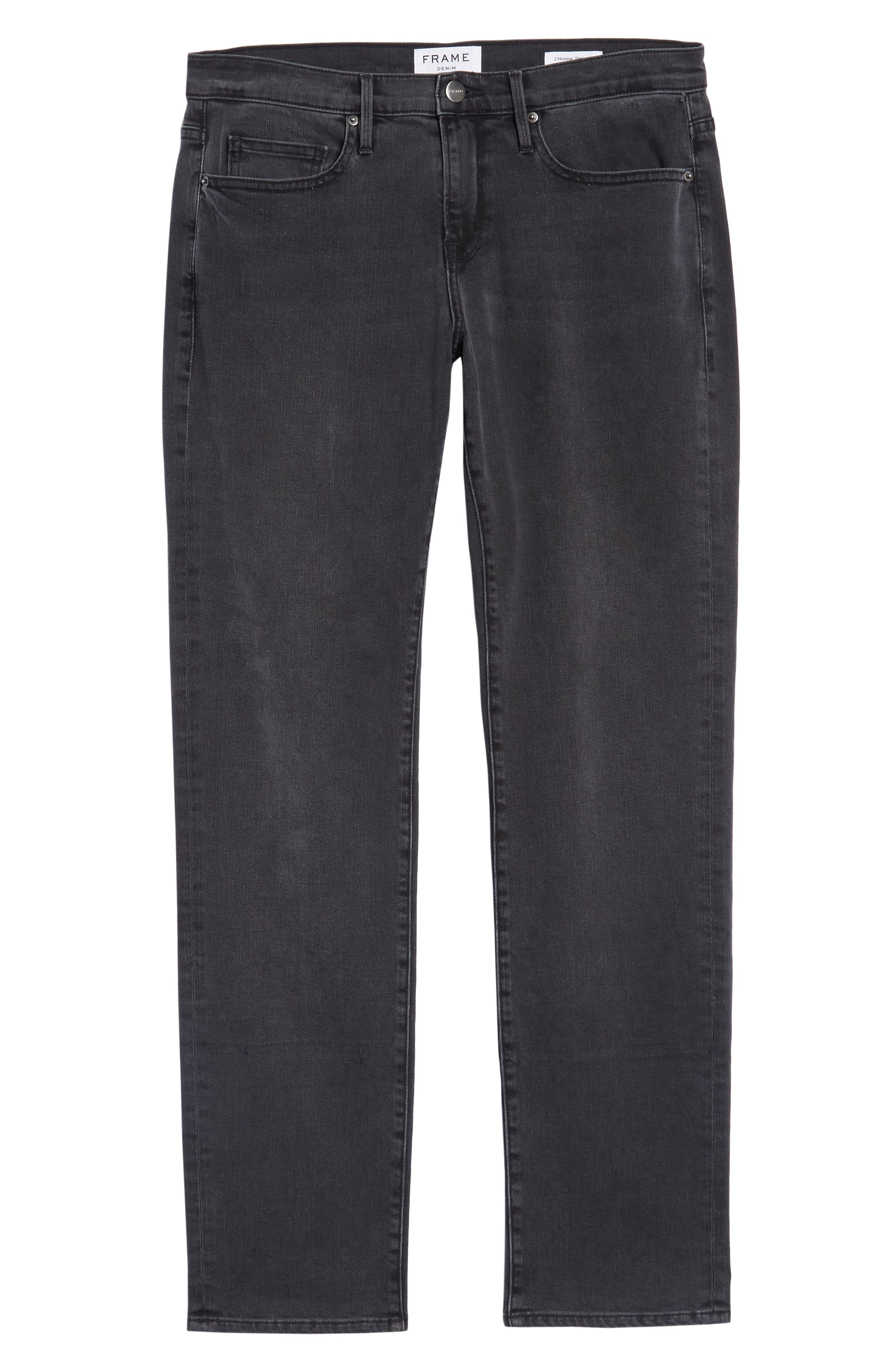 L'Homme Straight Leg Jeans,                             Alternate thumbnail 6, color,                             FADE TO GREY
