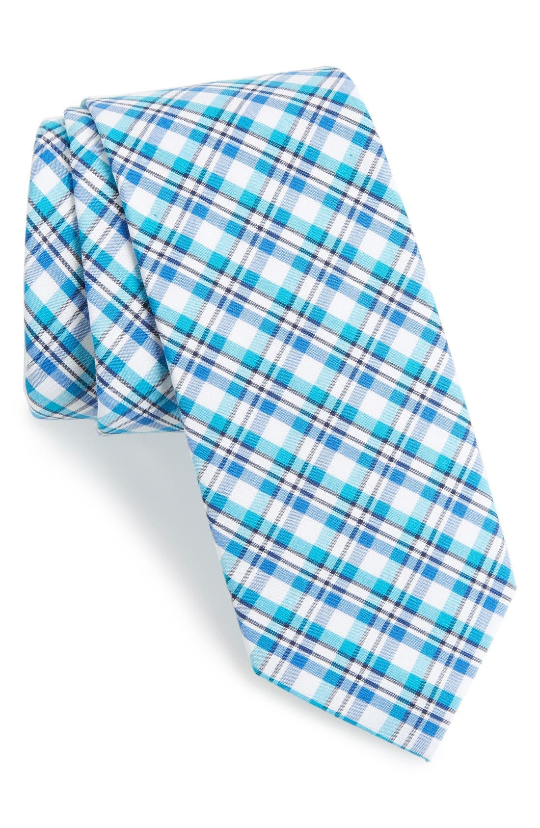 'Boomer' Plaid Cotton Tie,                             Main thumbnail 2, color,