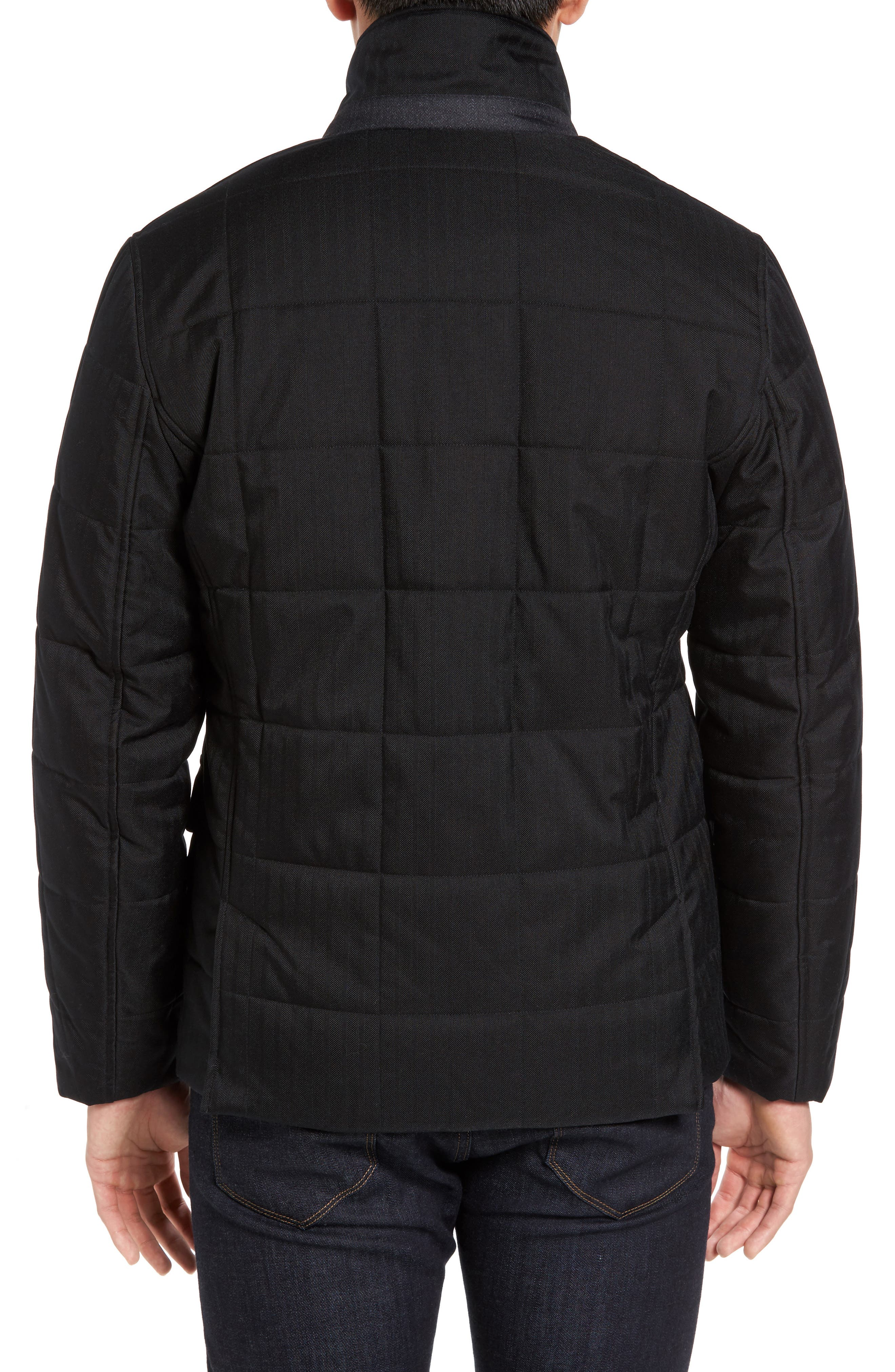 Jasper Trim Fit Quilted Jacket with Removable Bib,                             Alternate thumbnail 3, color,