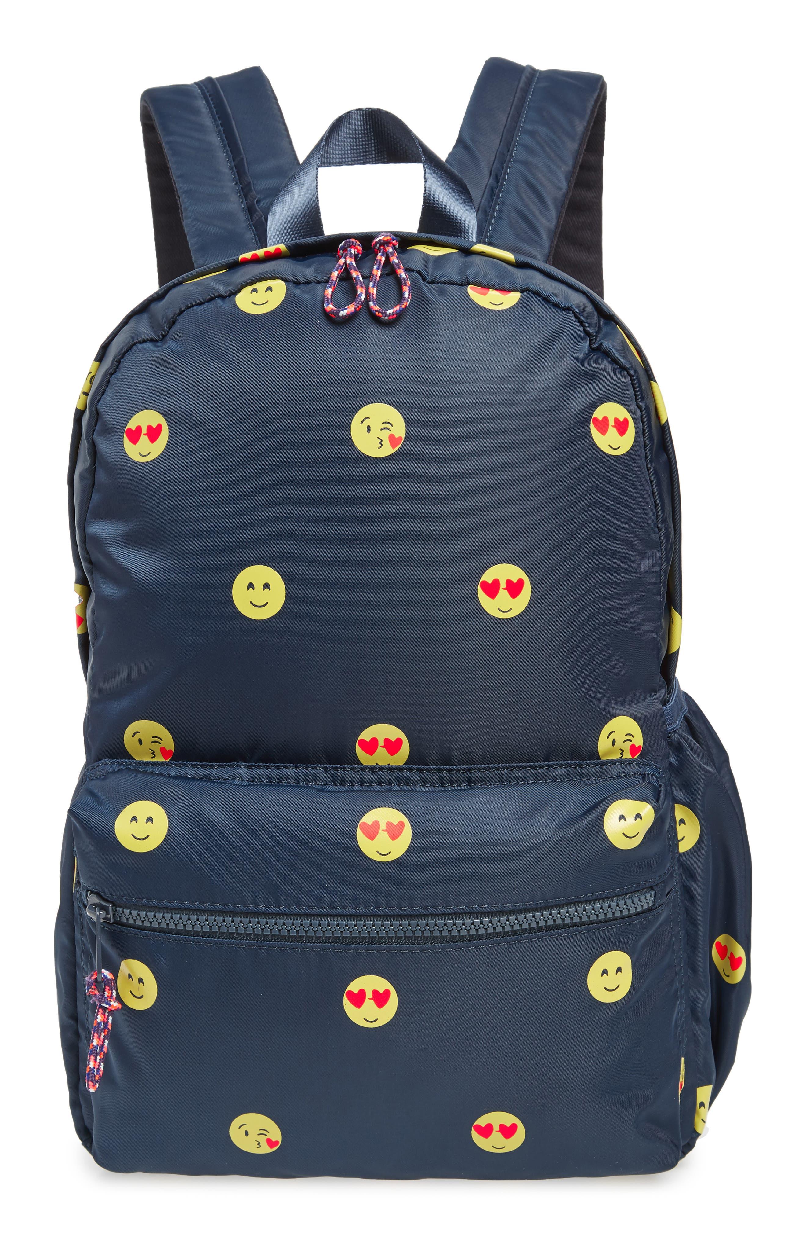 Emoji Backpack,                             Main thumbnail 1, color,                             NAVY