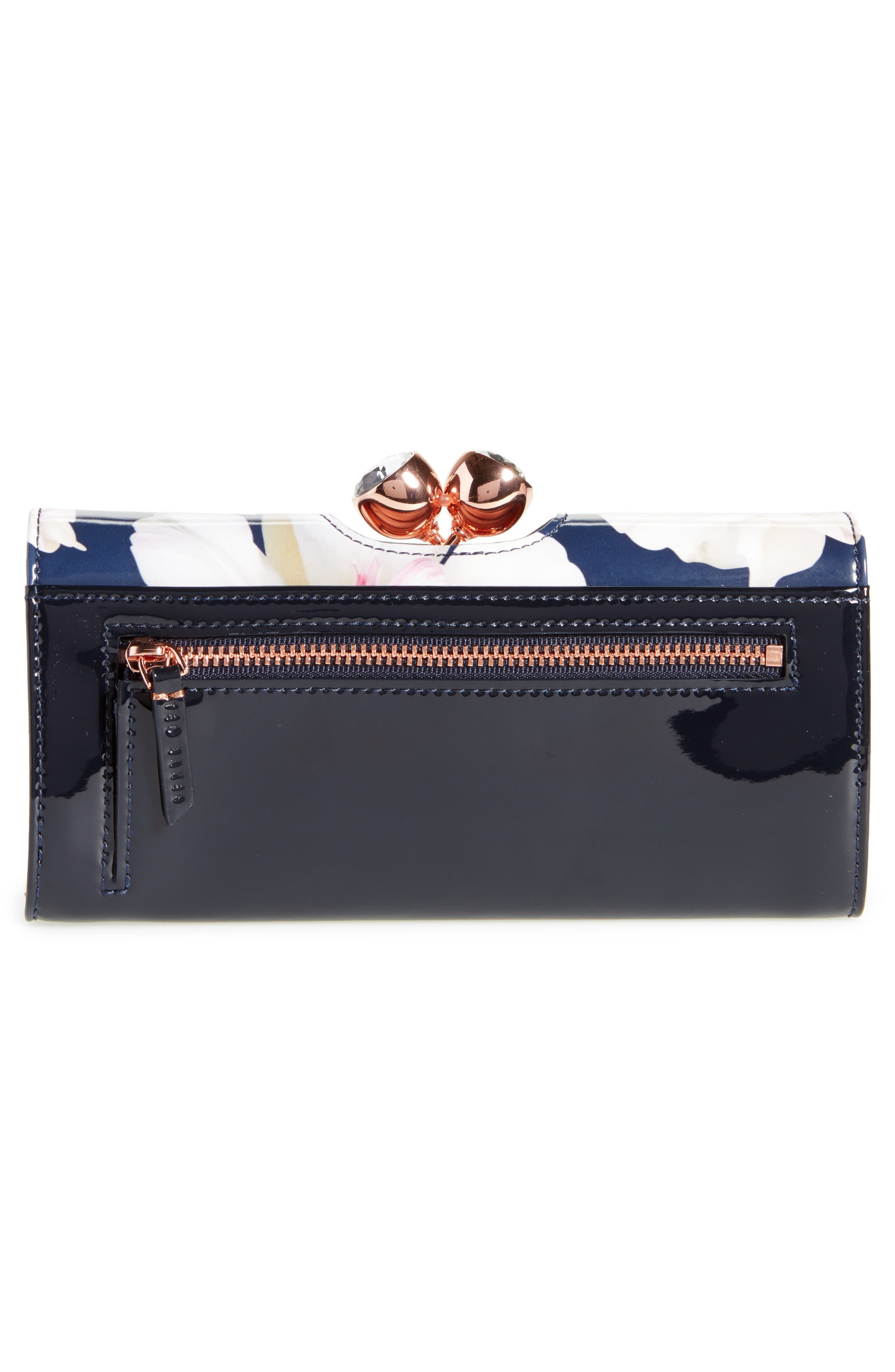 Jamiee Gardenia Leather Matinée Wallet,                             Alternate thumbnail 3, color,