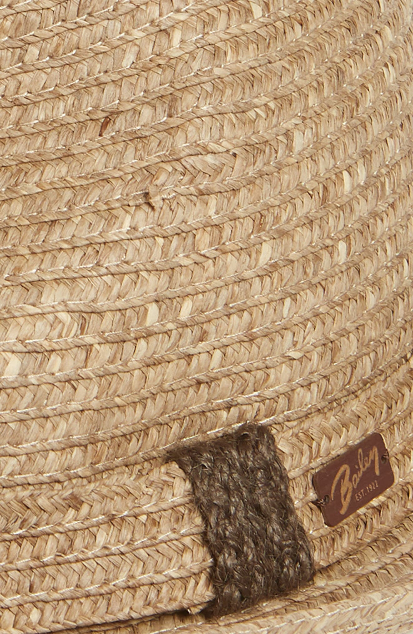 Frankie Straw Porkpie Hat,                             Alternate thumbnail 2, color,                             DARK NATURAL