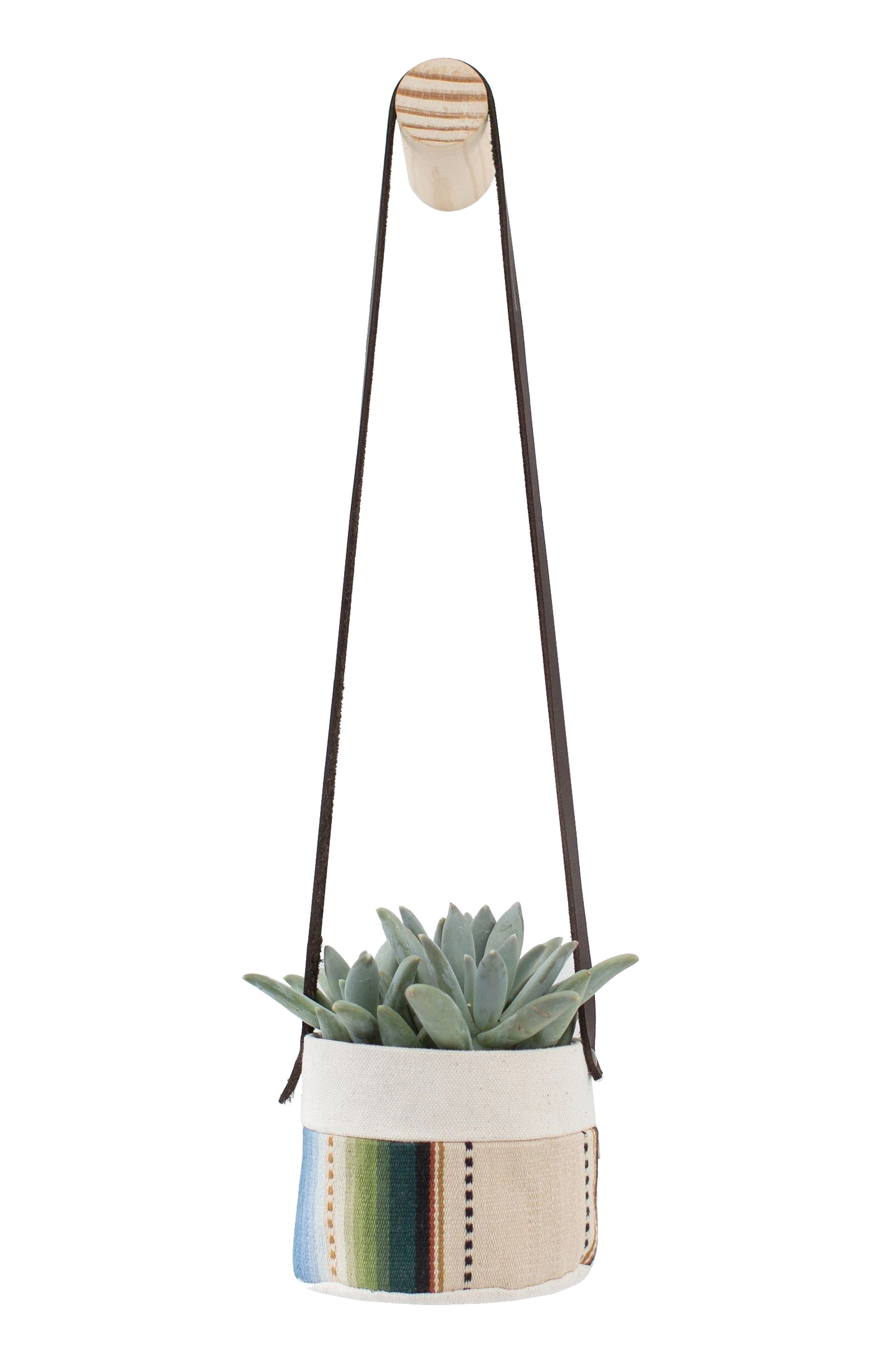 4-Inch Stripe Canvas Hanging Planter,                         Main,                         color, 250