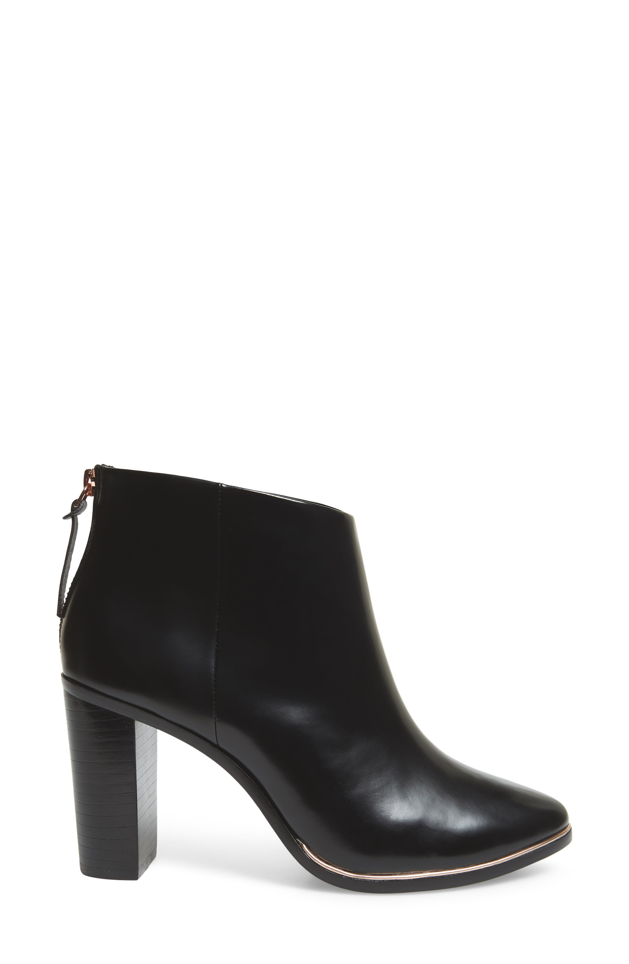 Vaully Bootie,                             Alternate thumbnail 3, color,                             BLACK LEATHER