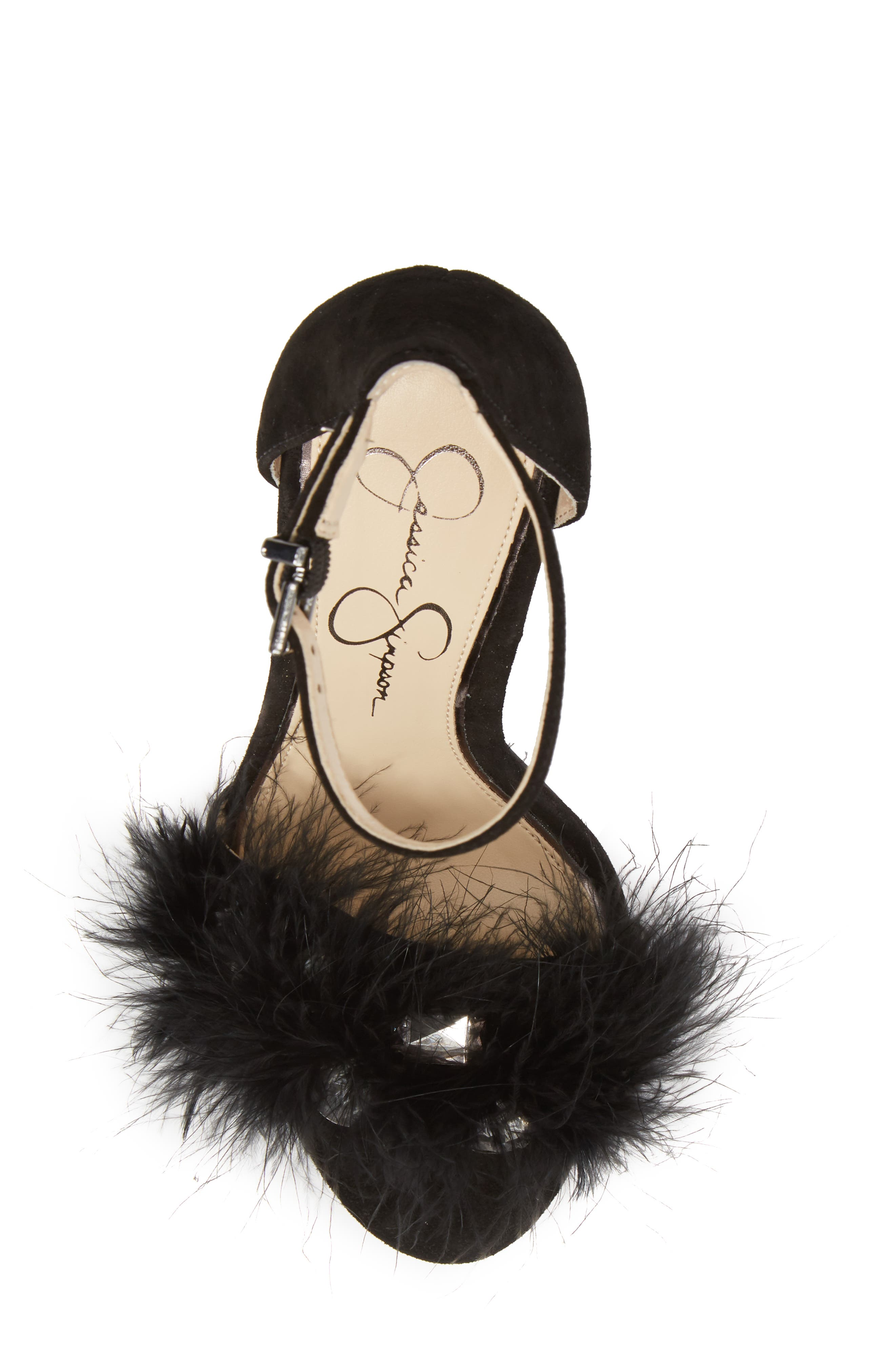 Jolinda Feathered Sandal,                             Alternate thumbnail 9, color,