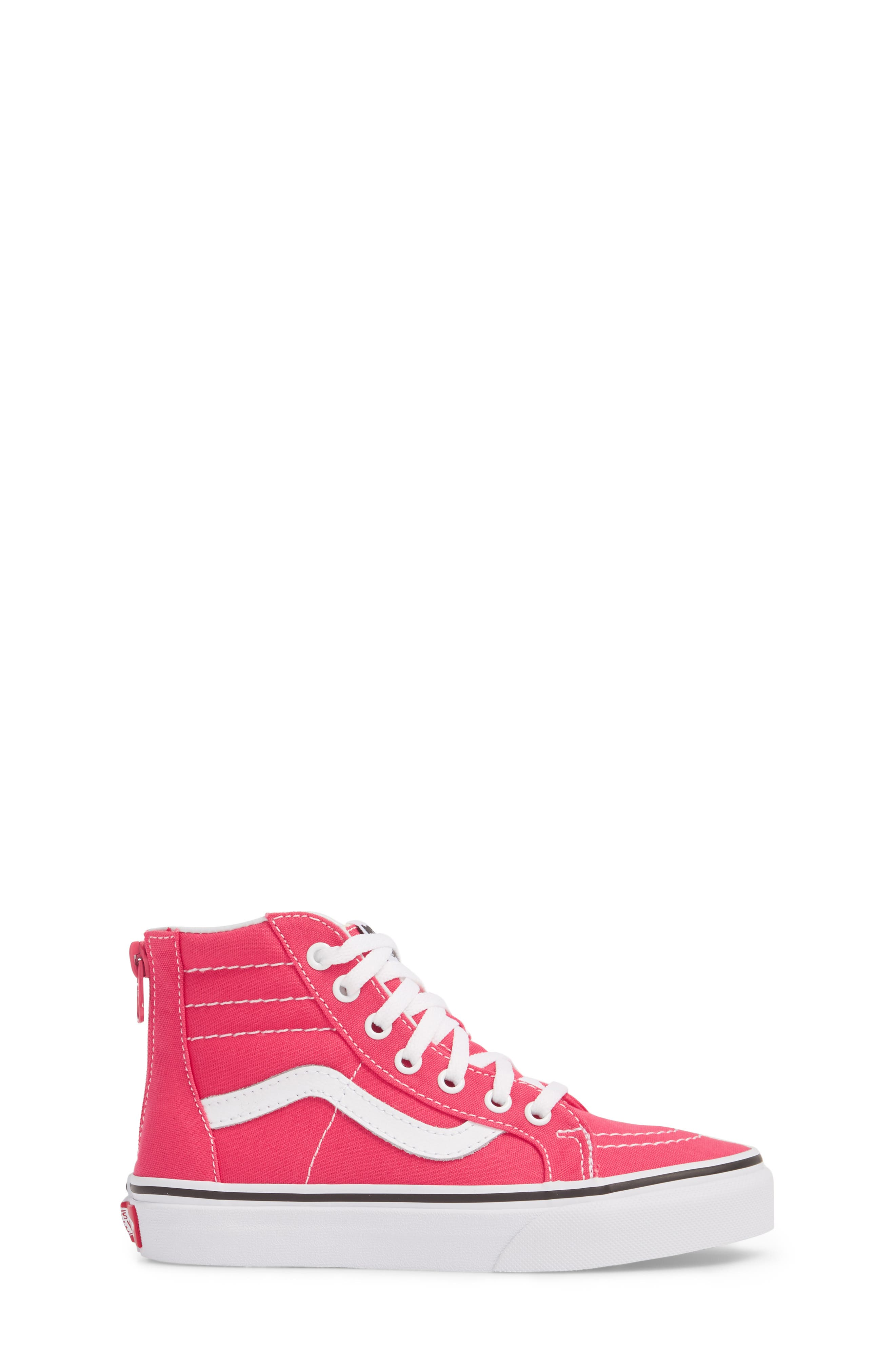 Sk8-Hi Zip Sneaker,                             Alternate thumbnail 3, color,                             AZALEA/ TRUE WHITE