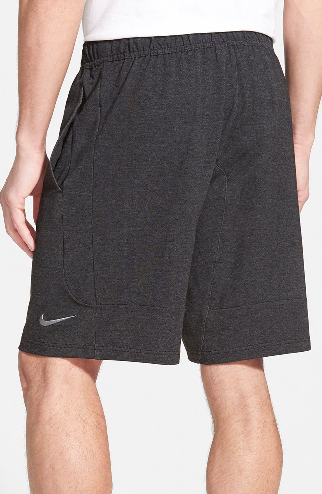 NIKE,                             Dri-FIT Touch Fleece Shorts,                             Alternate thumbnail 2, color,                             010