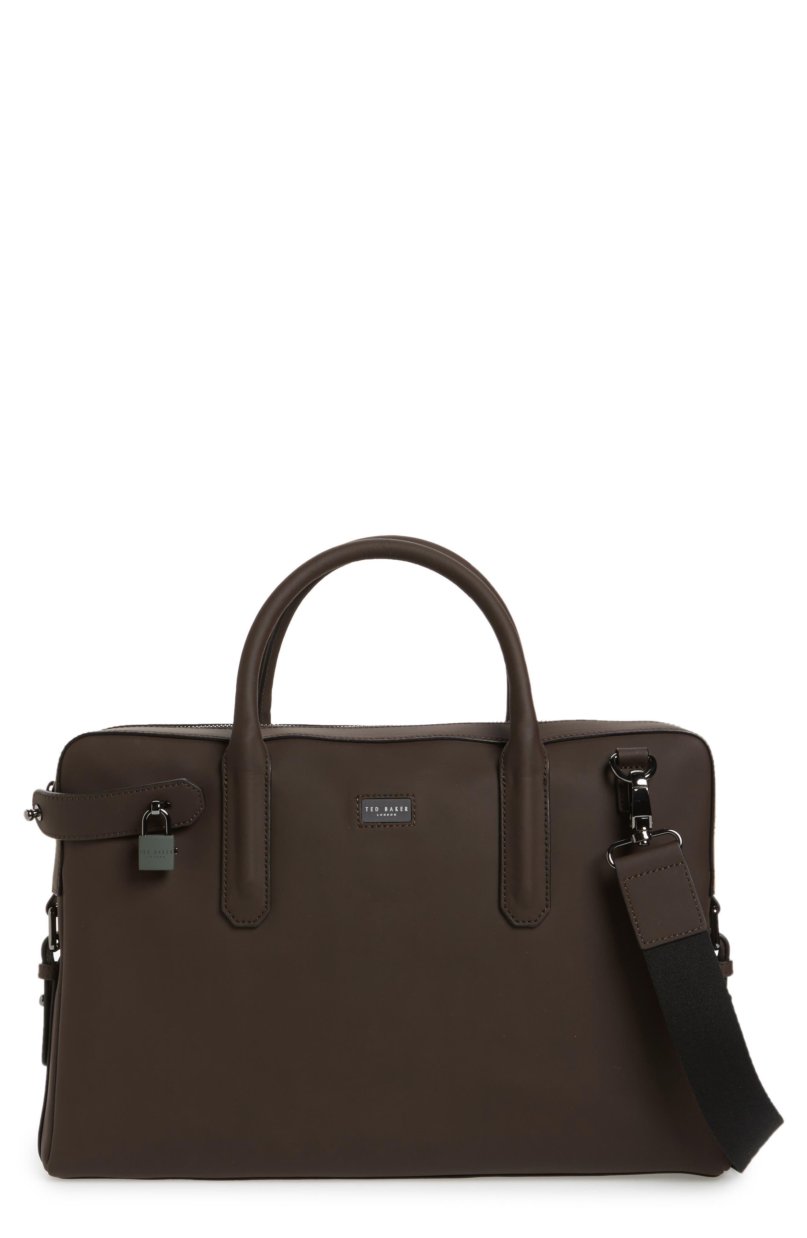 Ozboz Leather Briefcase,                             Main thumbnail 1, color,                             214