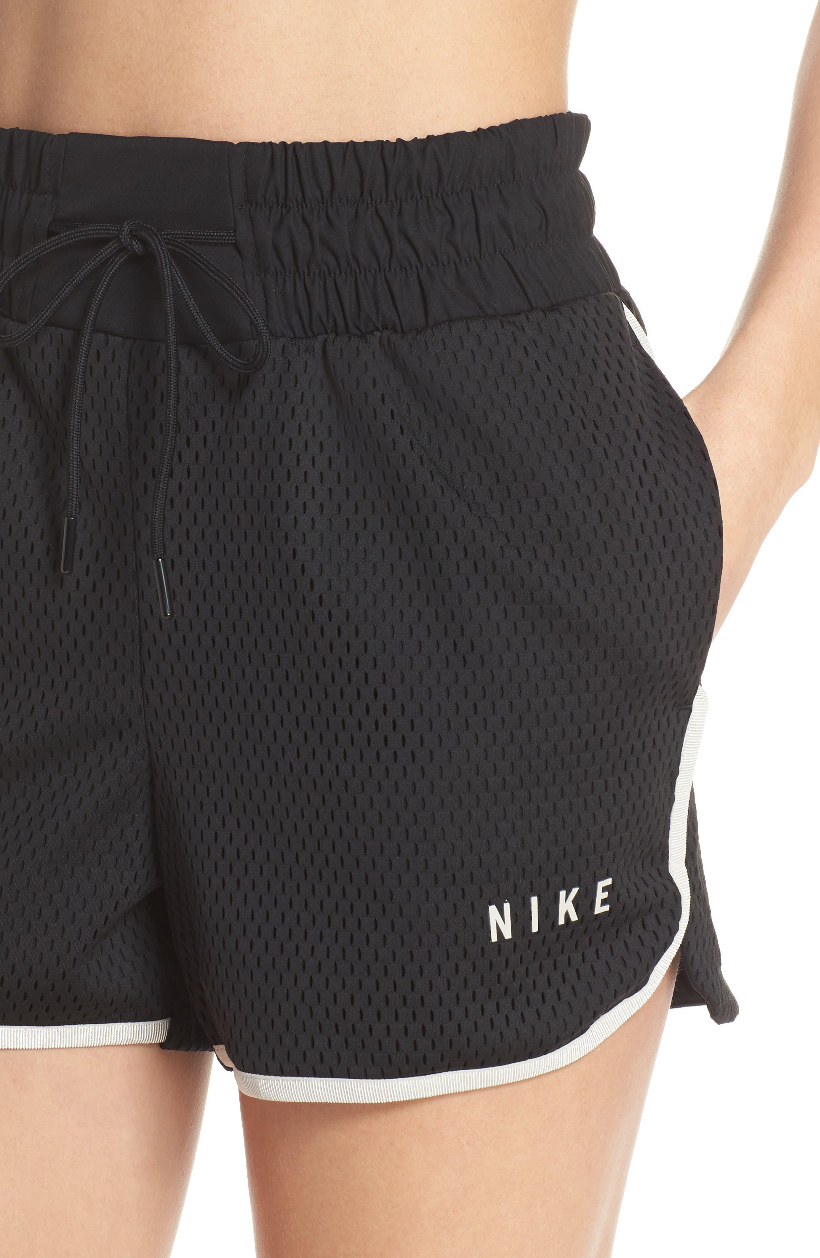 Sportswear Women's Dri-FIT Mesh Shorts,                             Alternate thumbnail 4, color,                             BLACK/ LIGHT BONE