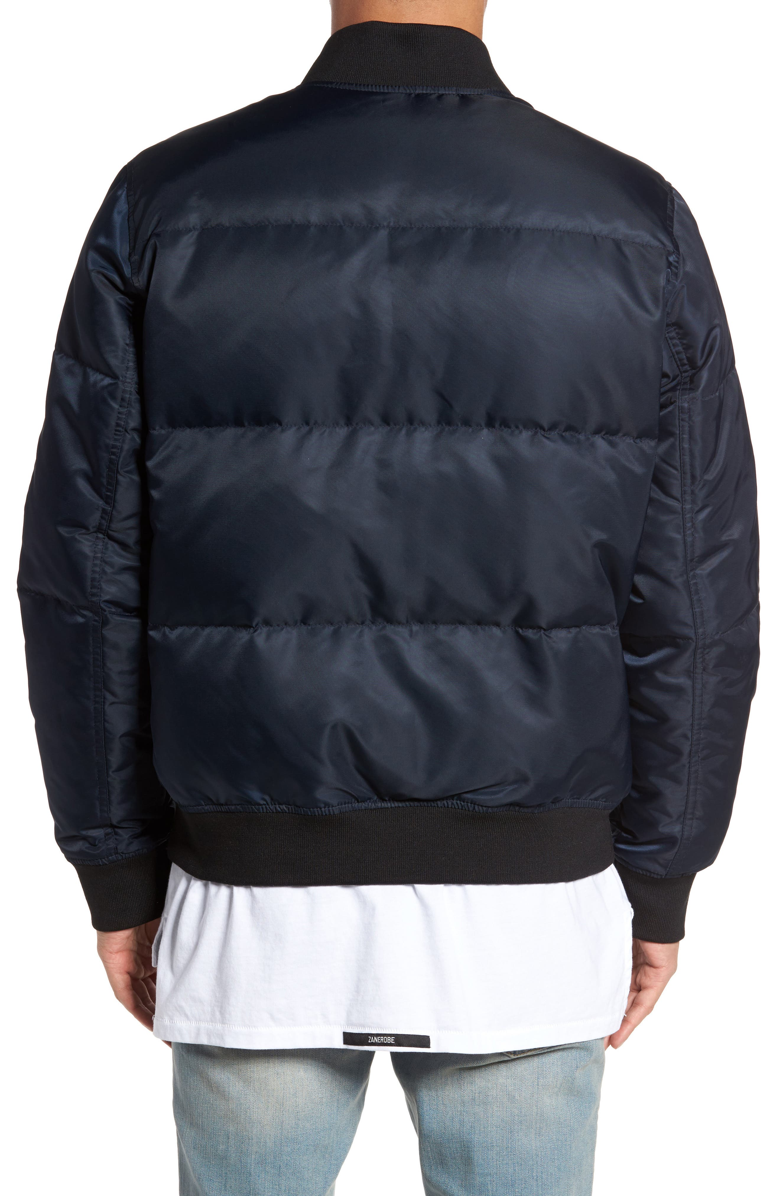 Quilted Down Bomber Jacket,                             Alternate thumbnail 7, color,