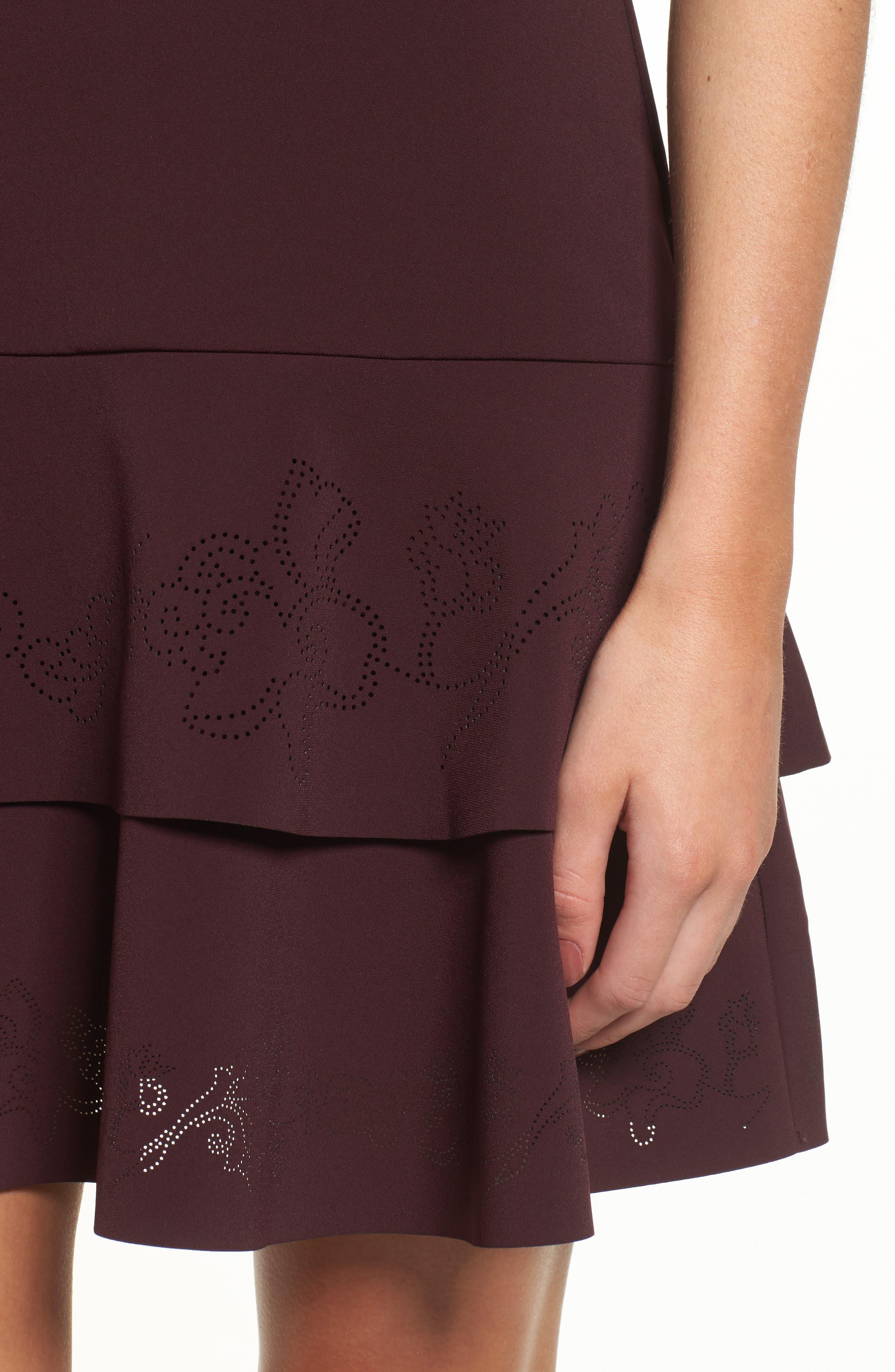 Luana Tiered Halter Dress,                             Alternate thumbnail 4, color,                             931
