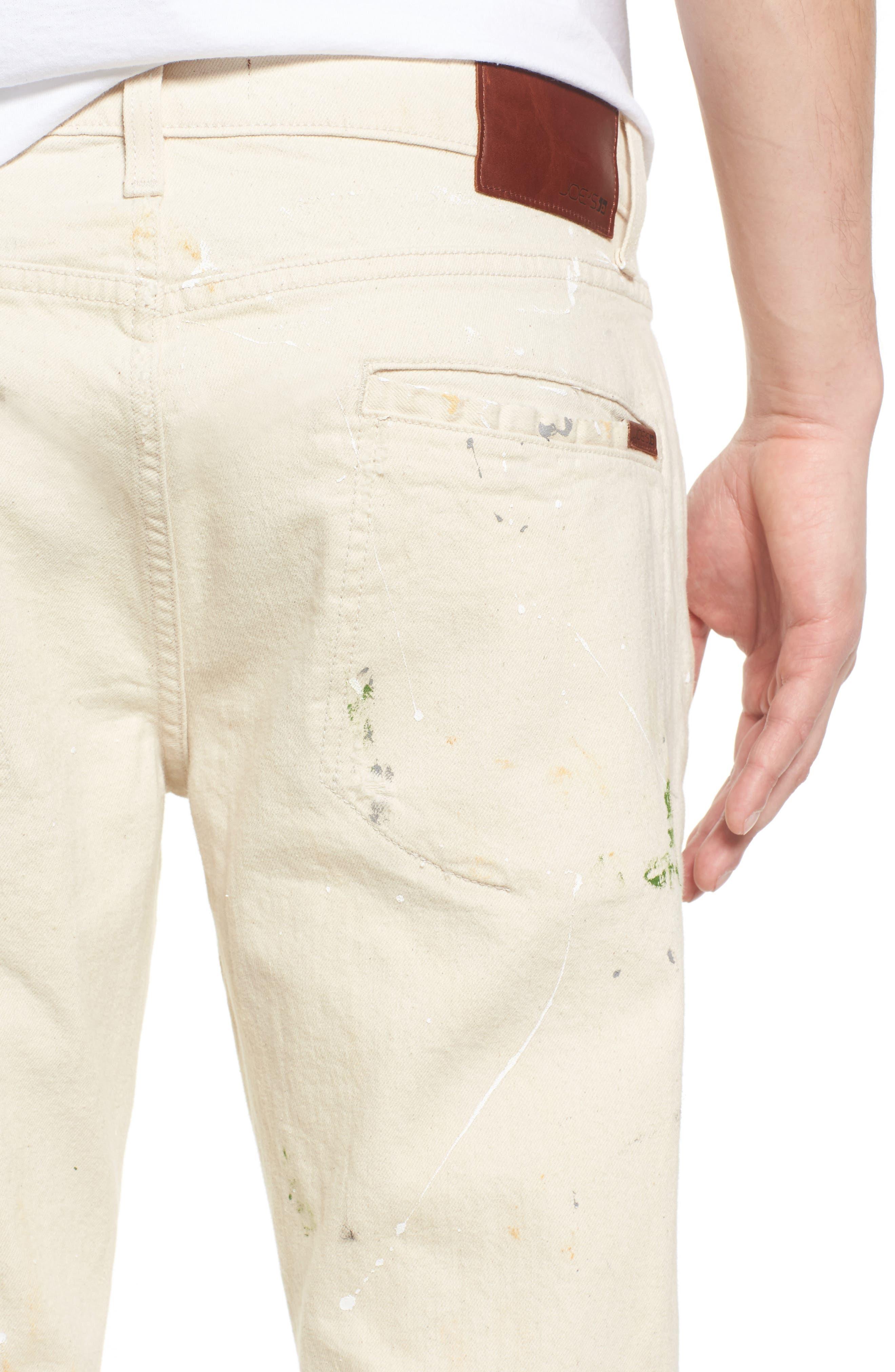 Standard Slouchy Slim Fit Jeans,                             Alternate thumbnail 4, color,                             110