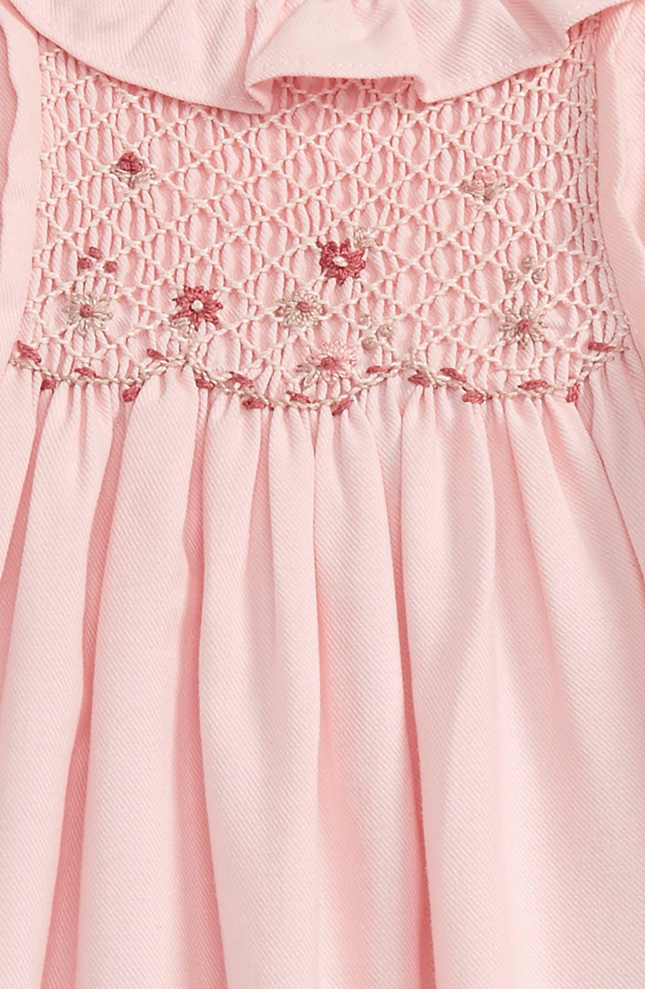 LULI & ME,                             Viyella Smocked Dress,                             Alternate thumbnail 2, color,                             650