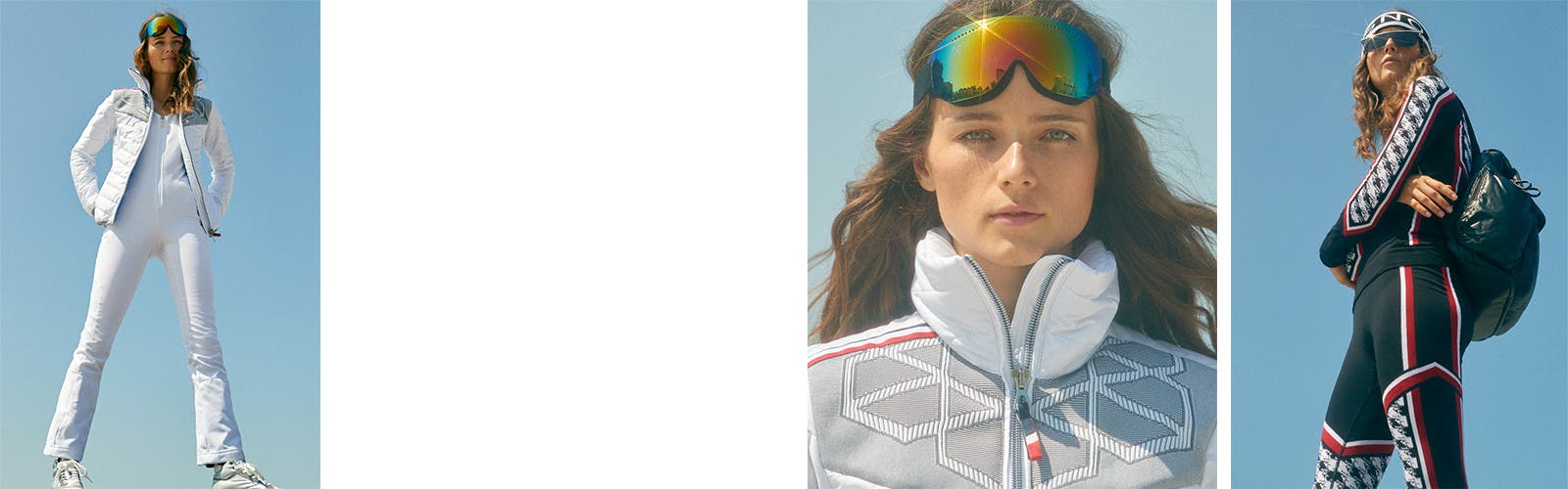 Women's clothing, shoes and accessories for winter and skiing.