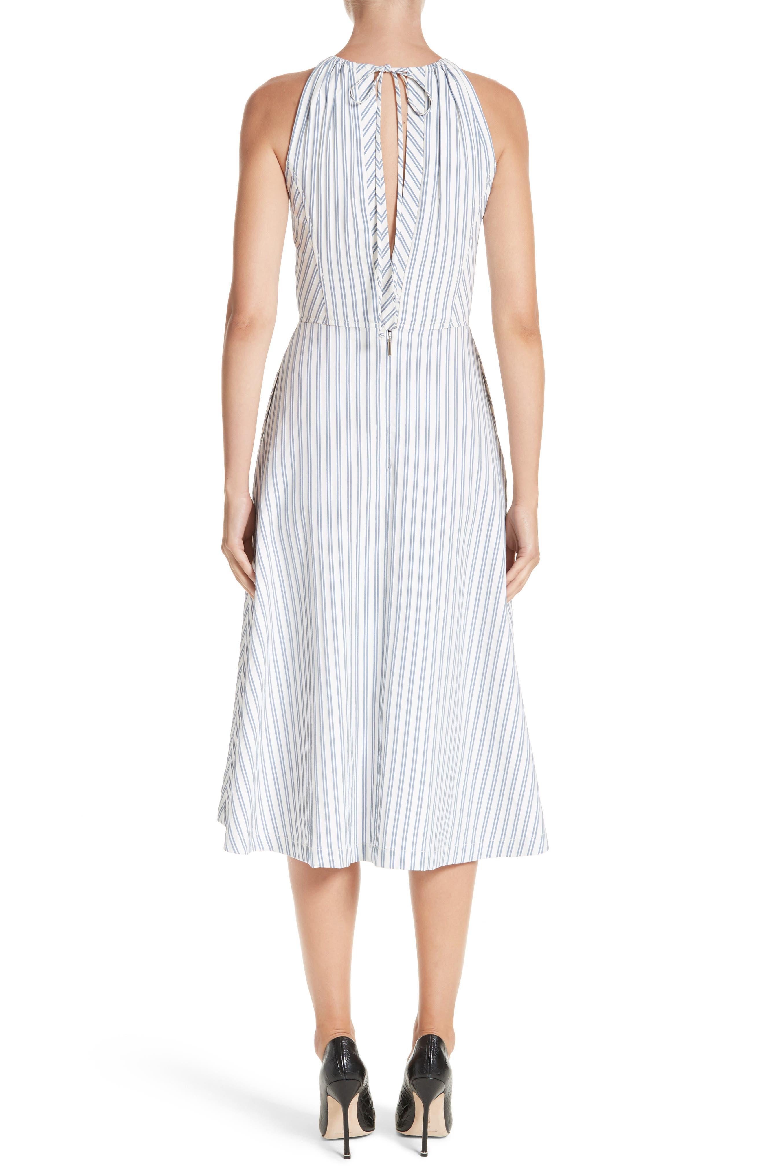Stripe Shirting Apron Day Dress,                             Alternate thumbnail 2, color,                             453