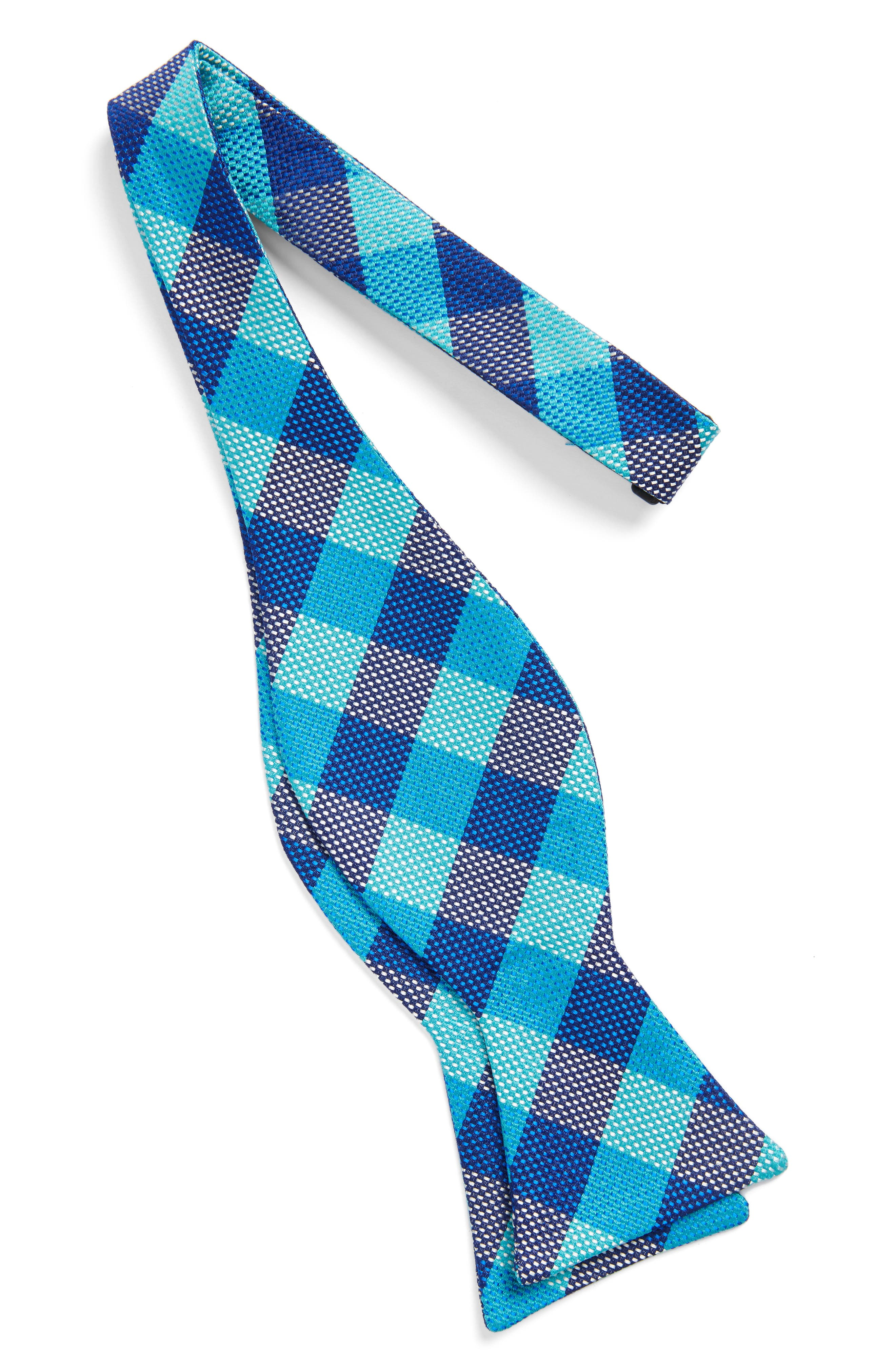 Derby Check Silk Bow Tie,                             Alternate thumbnail 8, color,