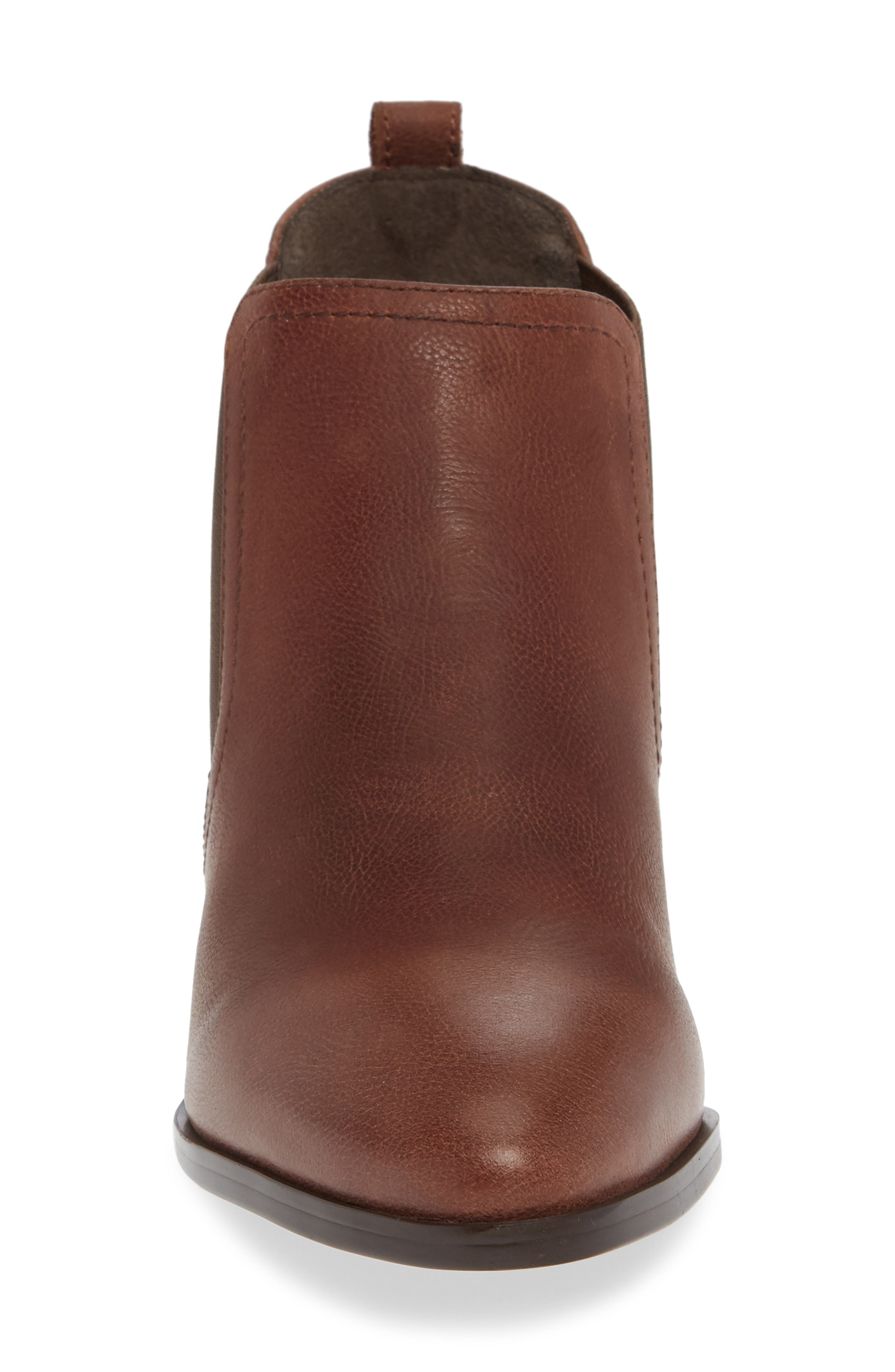 Maxie Chelsea Boot,                             Alternate thumbnail 4, color,                             LUGGAGE LEATHER