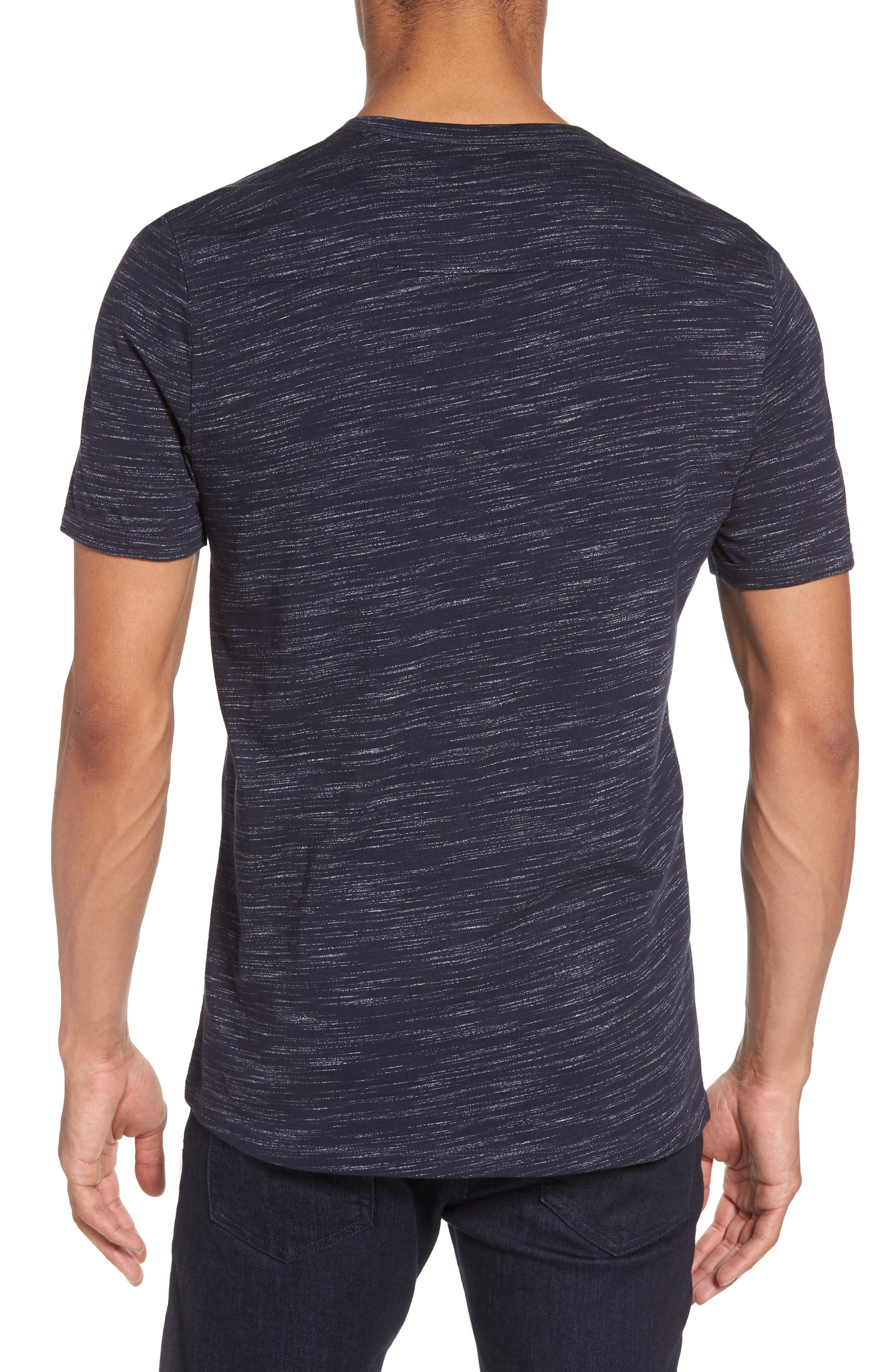 Space Dyed One-Button Henley T-Shirt,                             Alternate thumbnail 9, color,