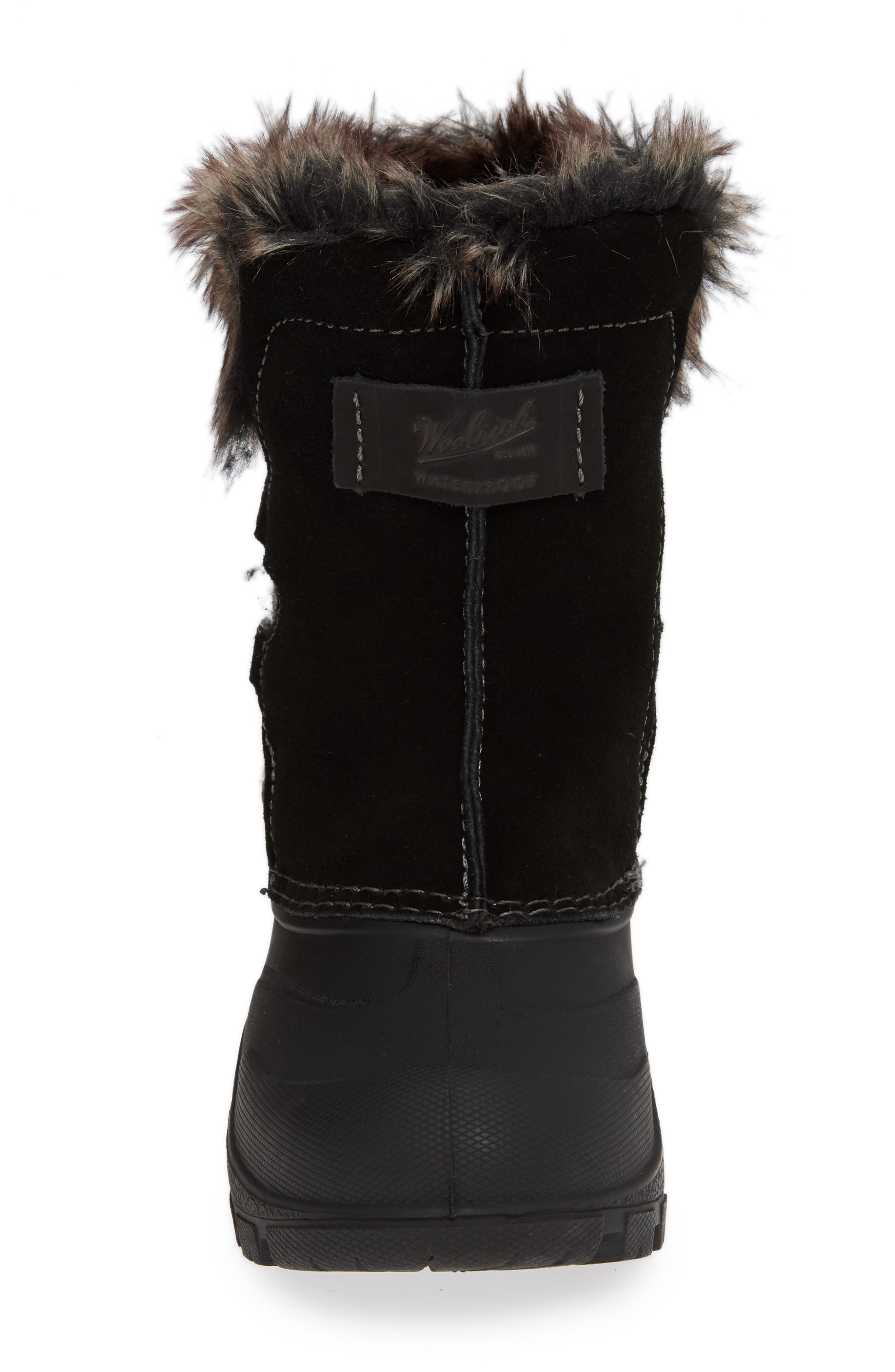Icecat II Fully Wooly Waterproof Insulated Winter Boot,                             Alternate thumbnail 4, color,                             BLACK WOOL