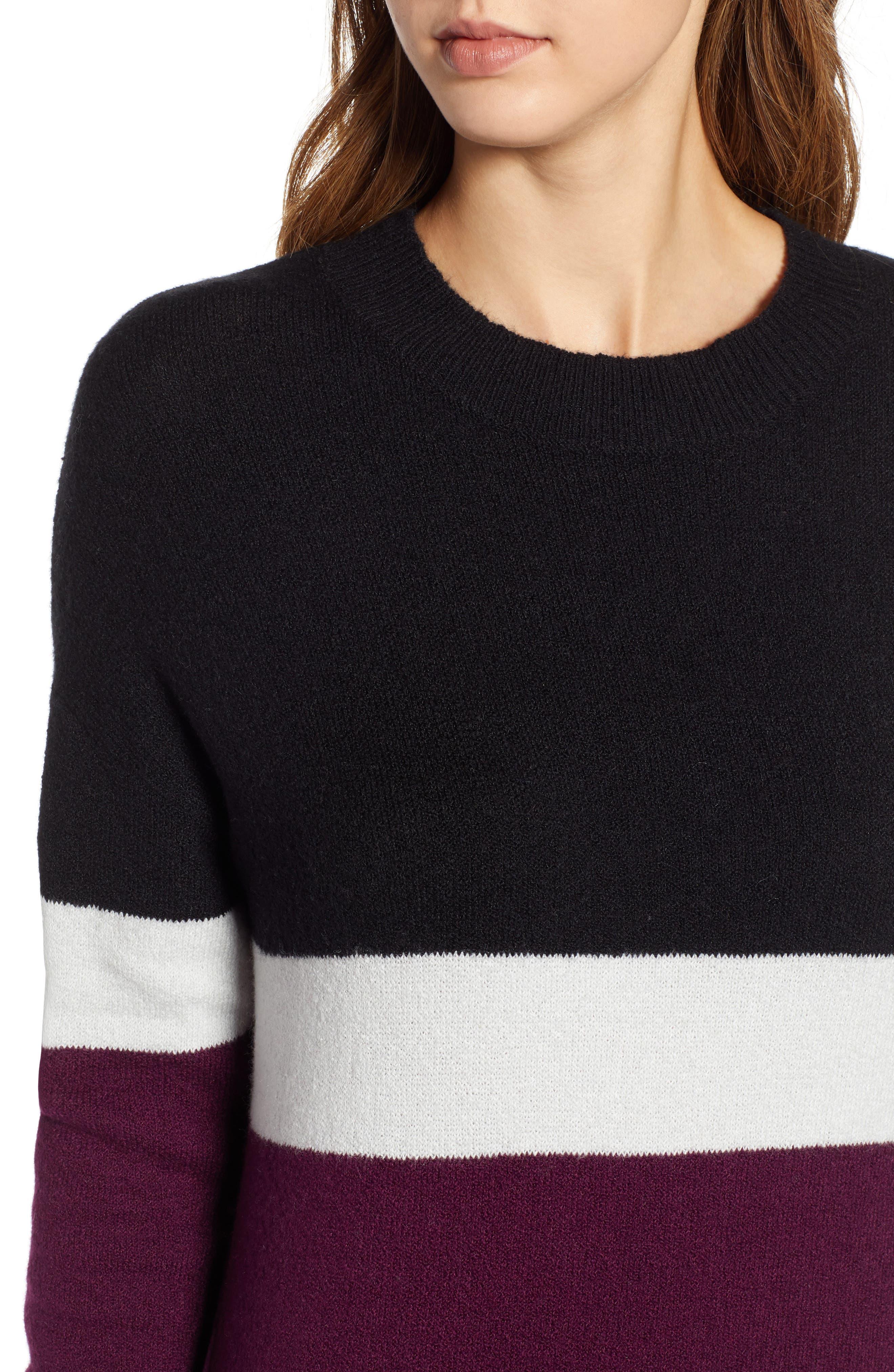 Stripe Sweater Dress,                             Alternate thumbnail 4, color,                             510