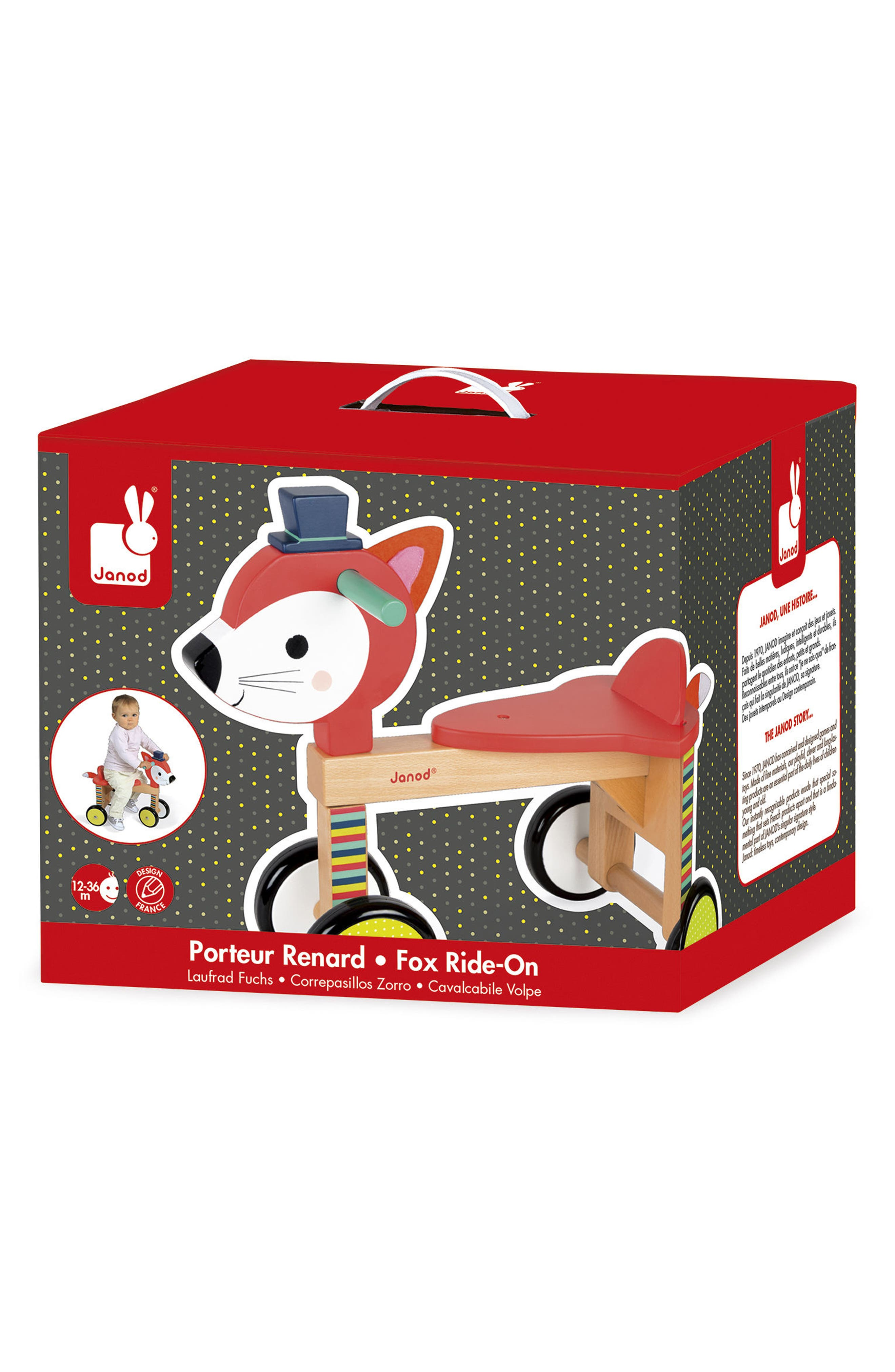 Fox Ride-On Toy,                             Alternate thumbnail 2, color,                             MULTI