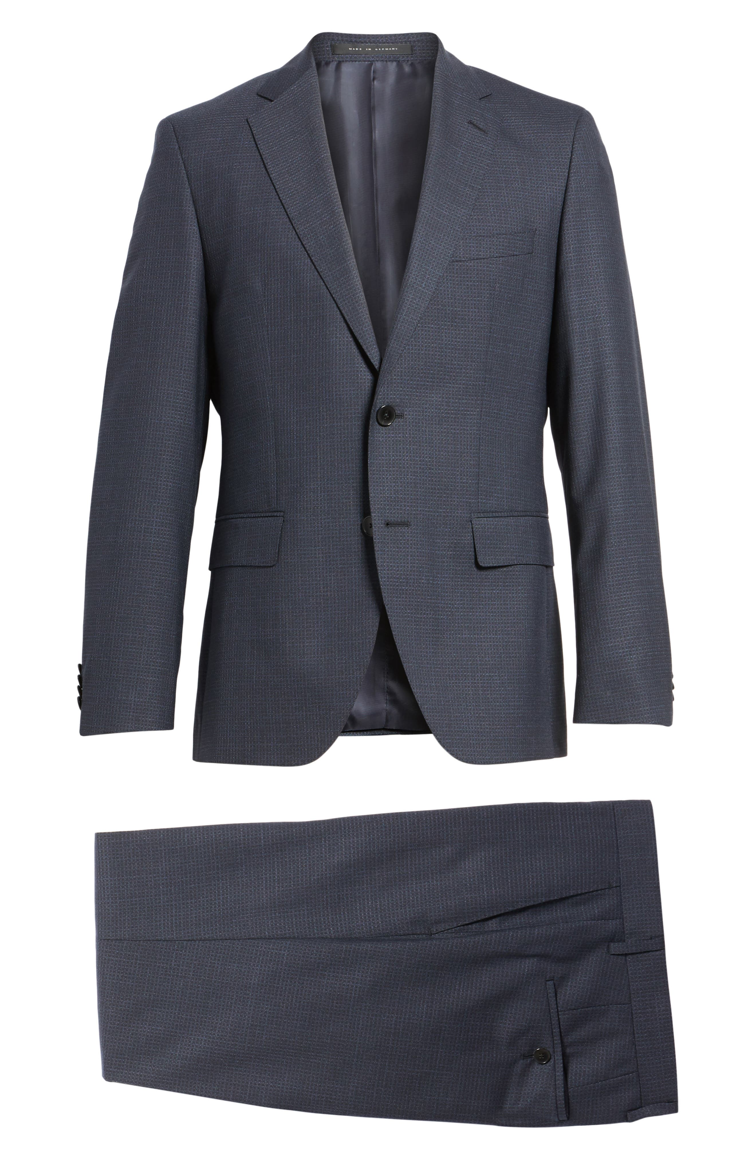 Johnstons/Lenon Classic Fit Check Wool Suit,                             Alternate thumbnail 8, color,