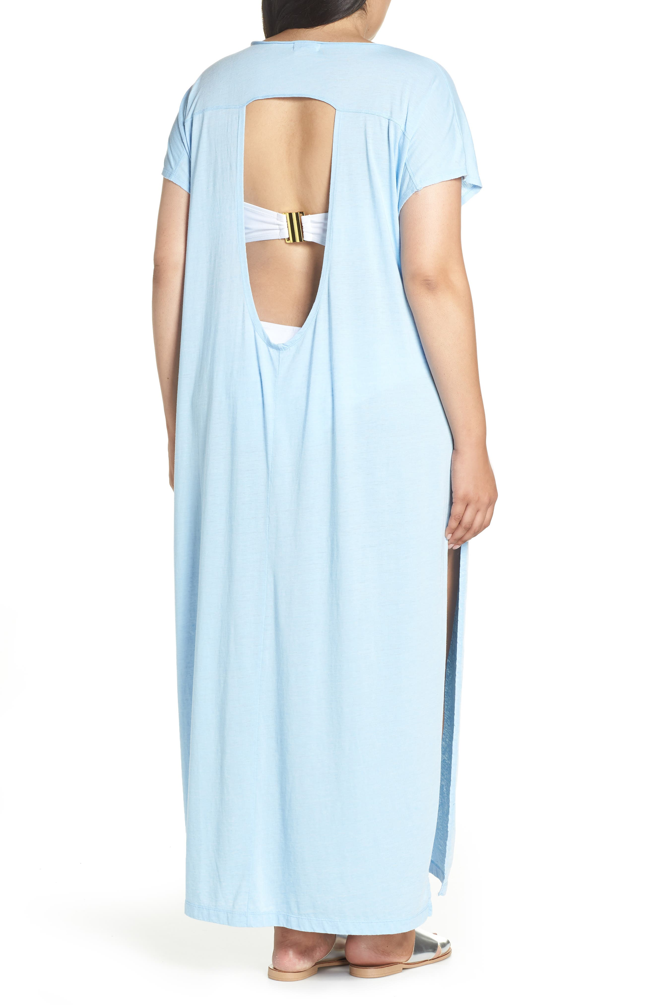 Henley Cover-Up Dress,                             Alternate thumbnail 2, color,                             BLUE BELL