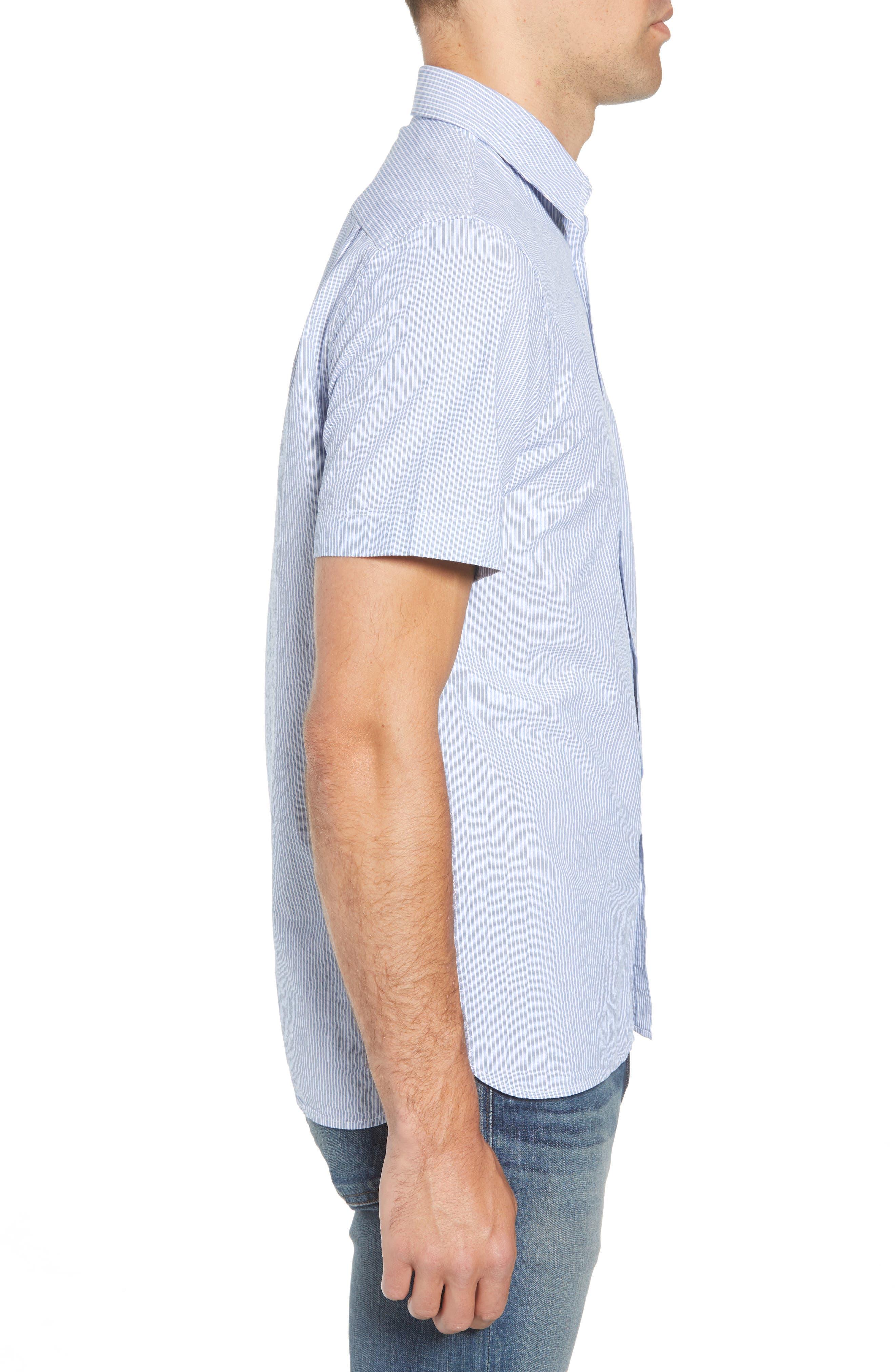 Regular Fit Seersucker Sport Shirt,                             Alternate thumbnail 3, color,                             400
