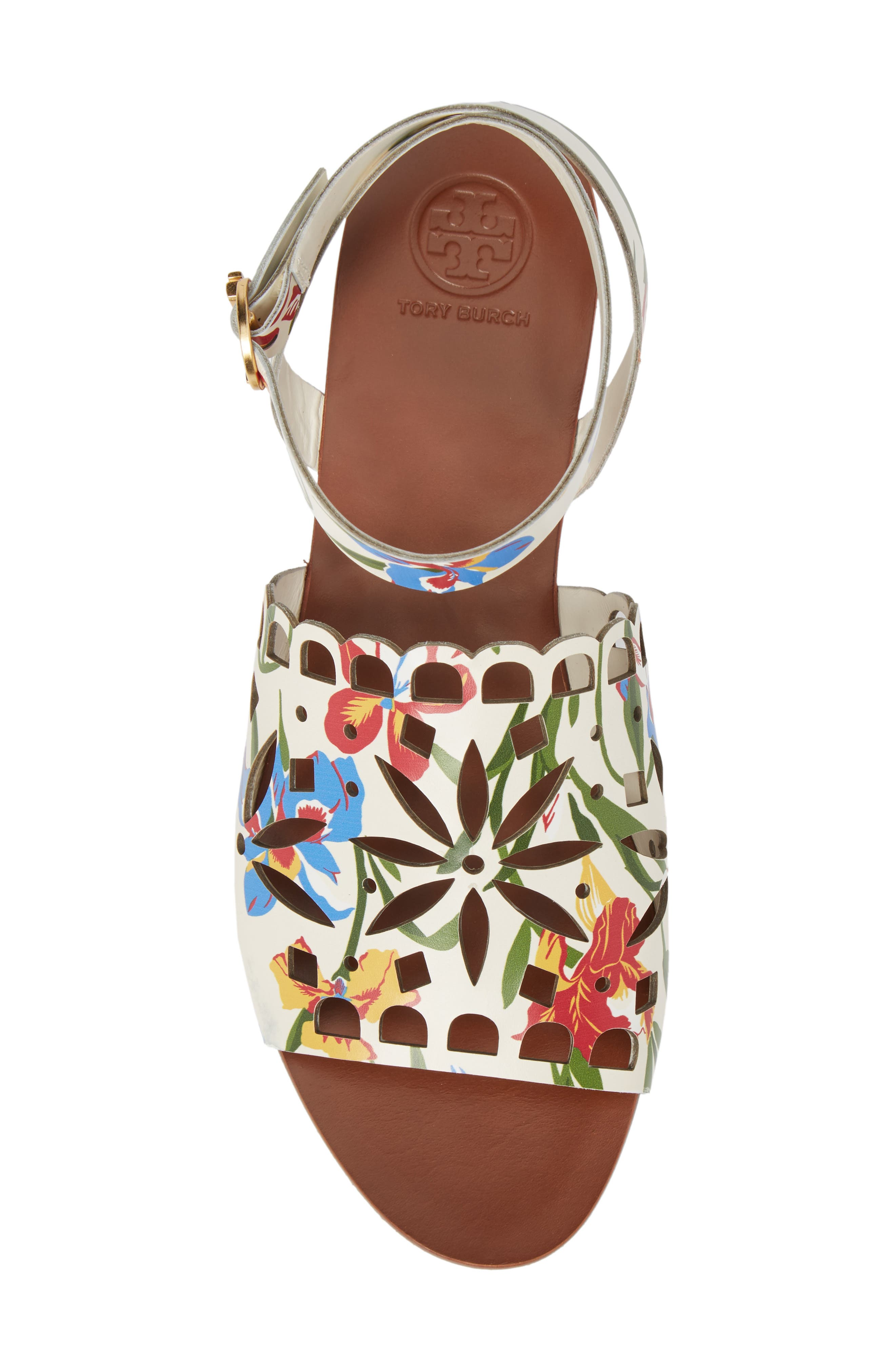 May Printed Floral Ankle Strap Sandal,                             Alternate thumbnail 5, color,                             100