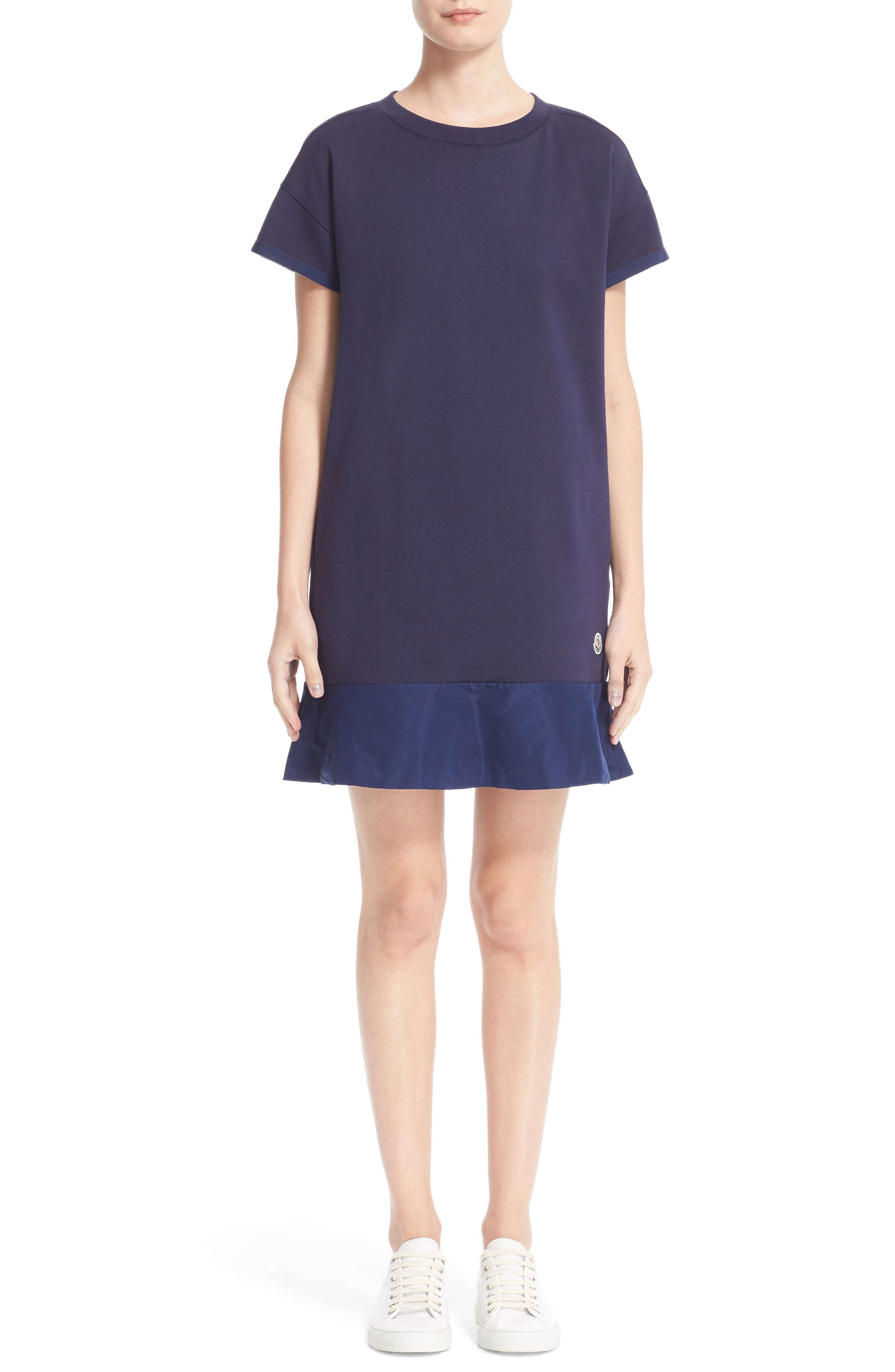 Abito Ruffle Sweatshirt Dress, Main, color, 420