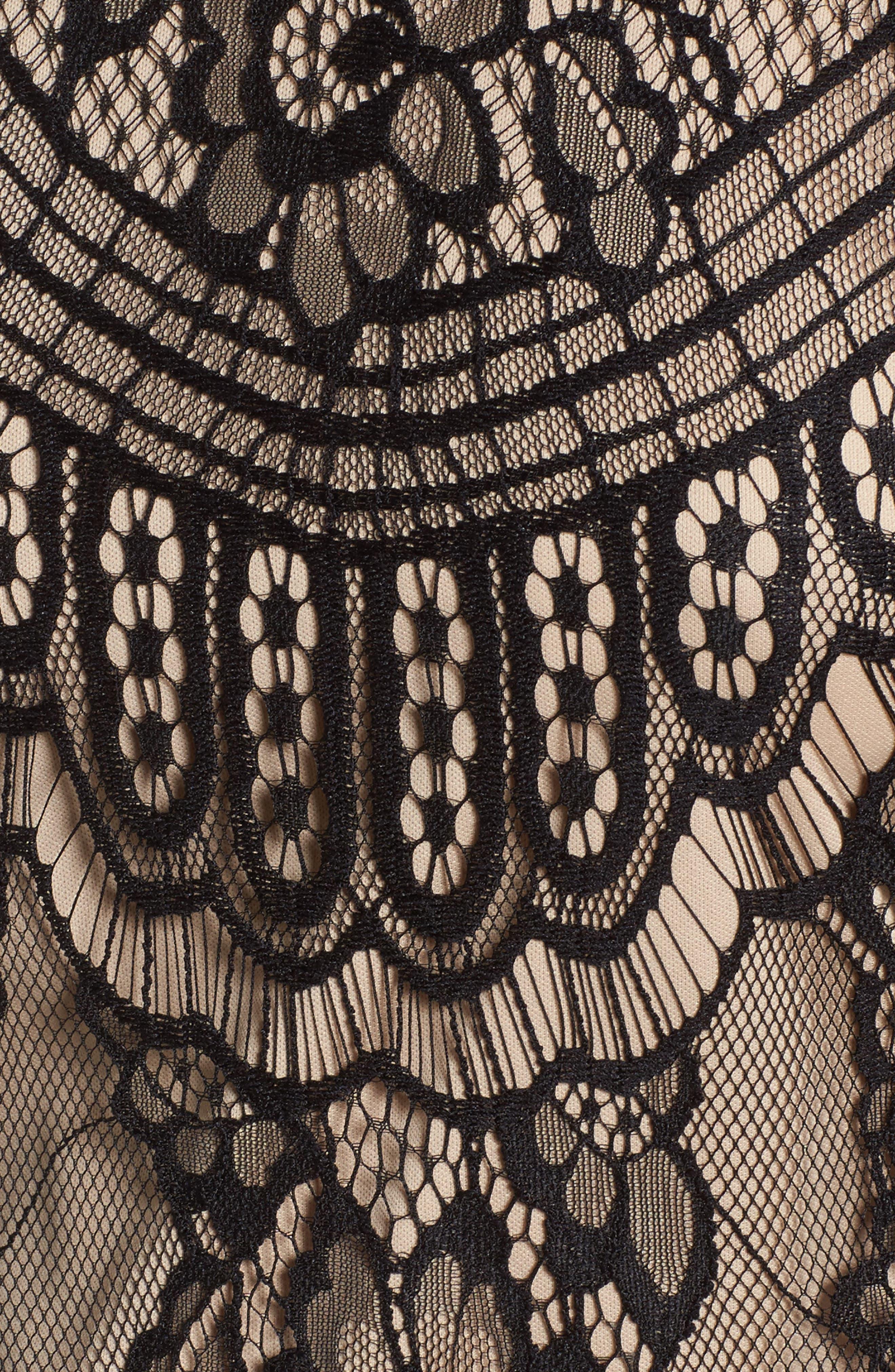 Lace Cold Shoulder Dress,                             Alternate thumbnail 5, color,                             002