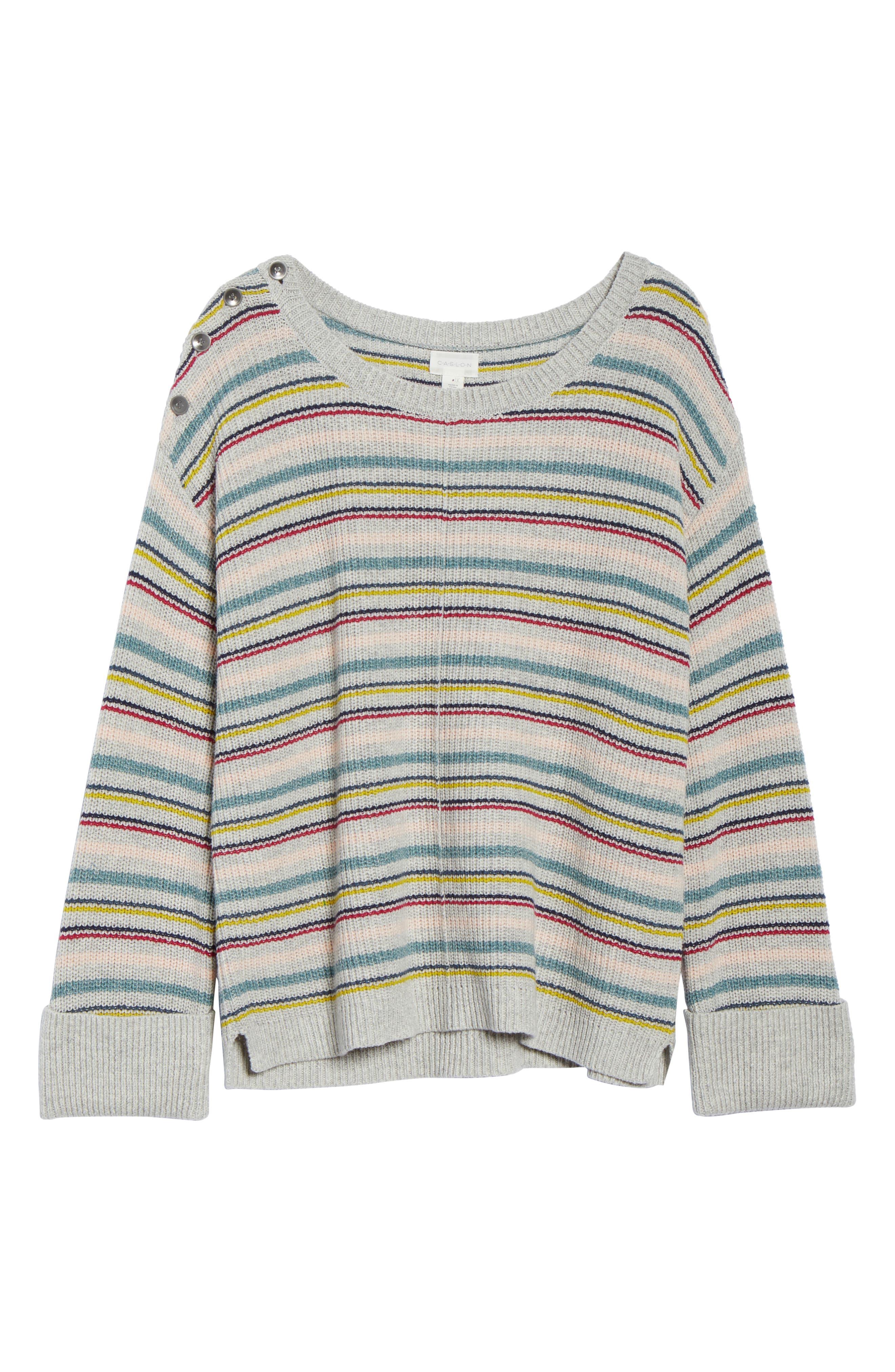 Button Shoulder Sweater,                             Alternate thumbnail 6, color,                             050