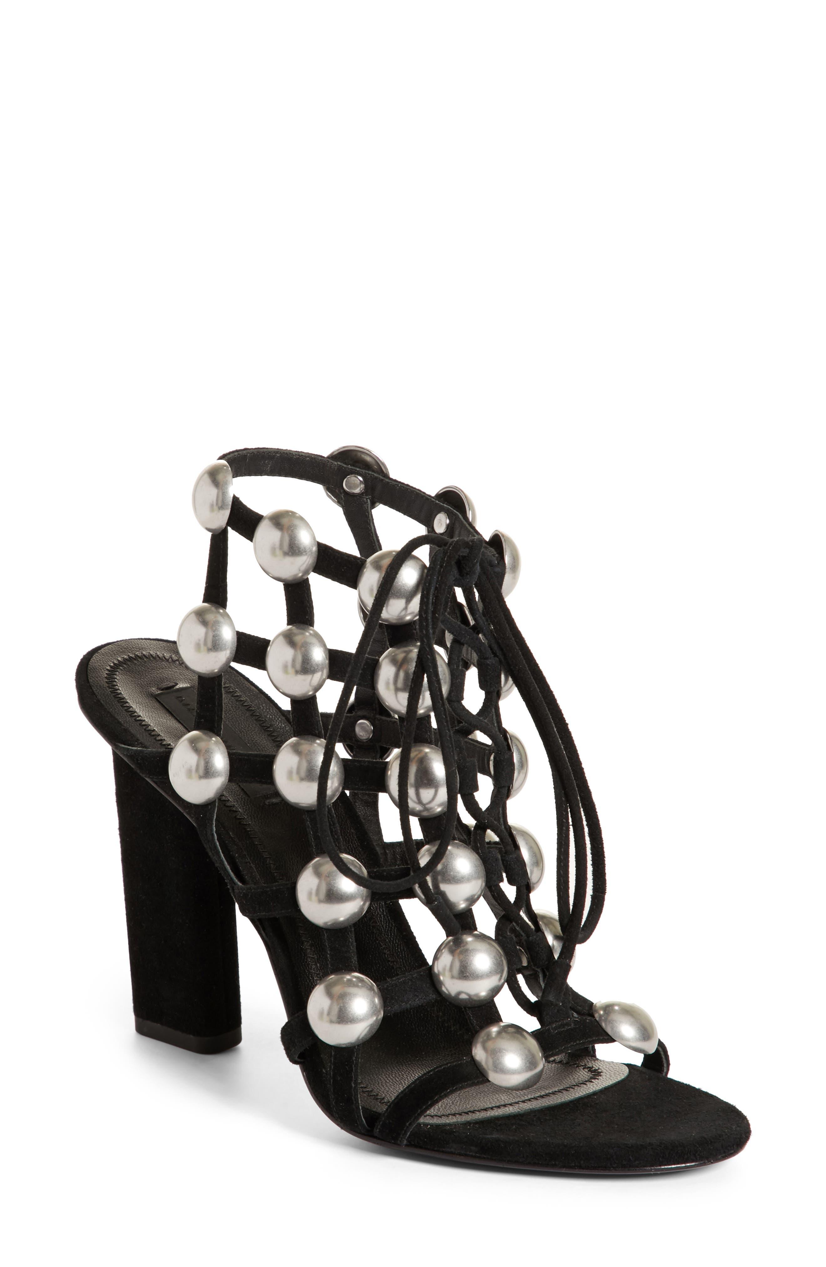 Rubie Studded Sandal,                         Main,                         color, 001