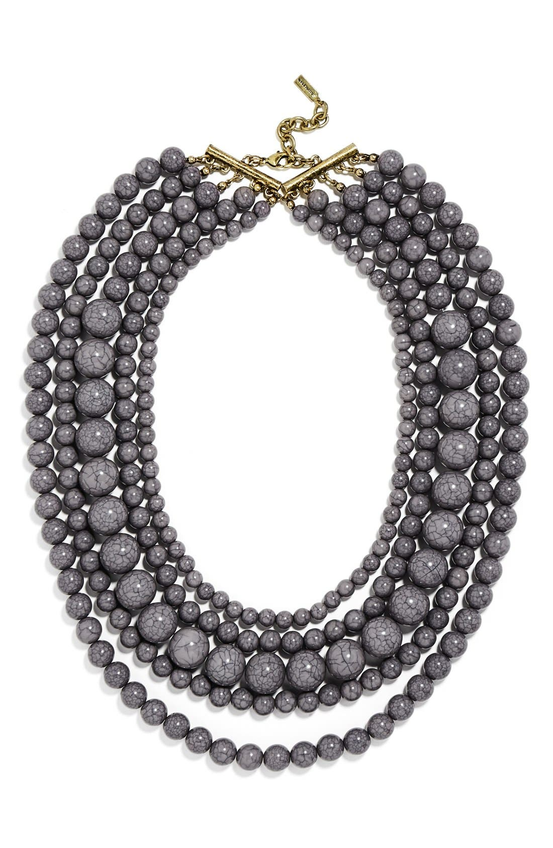 'Globe' Multistrand Beaded Necklace,                             Main thumbnail 1, color,                             021