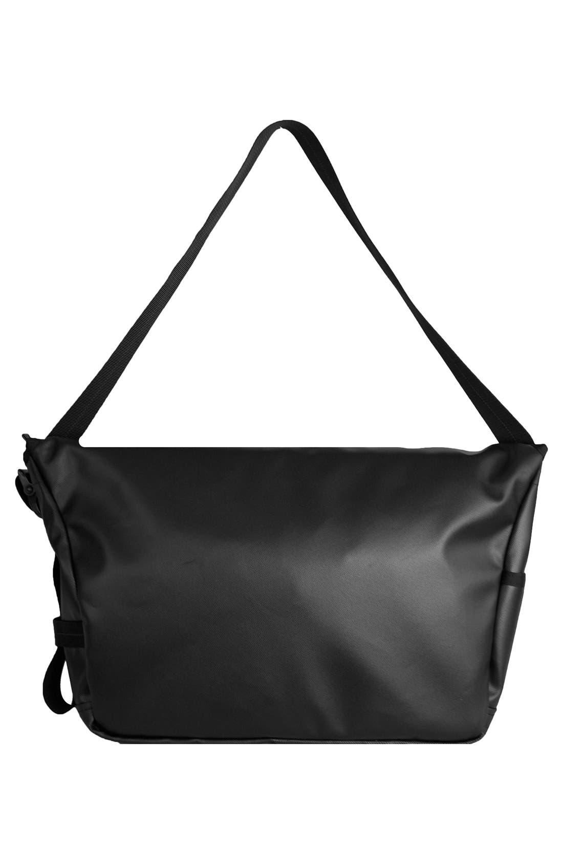 'NightHawk' Messenger Bag,                             Alternate thumbnail 3, color,                             BLACK