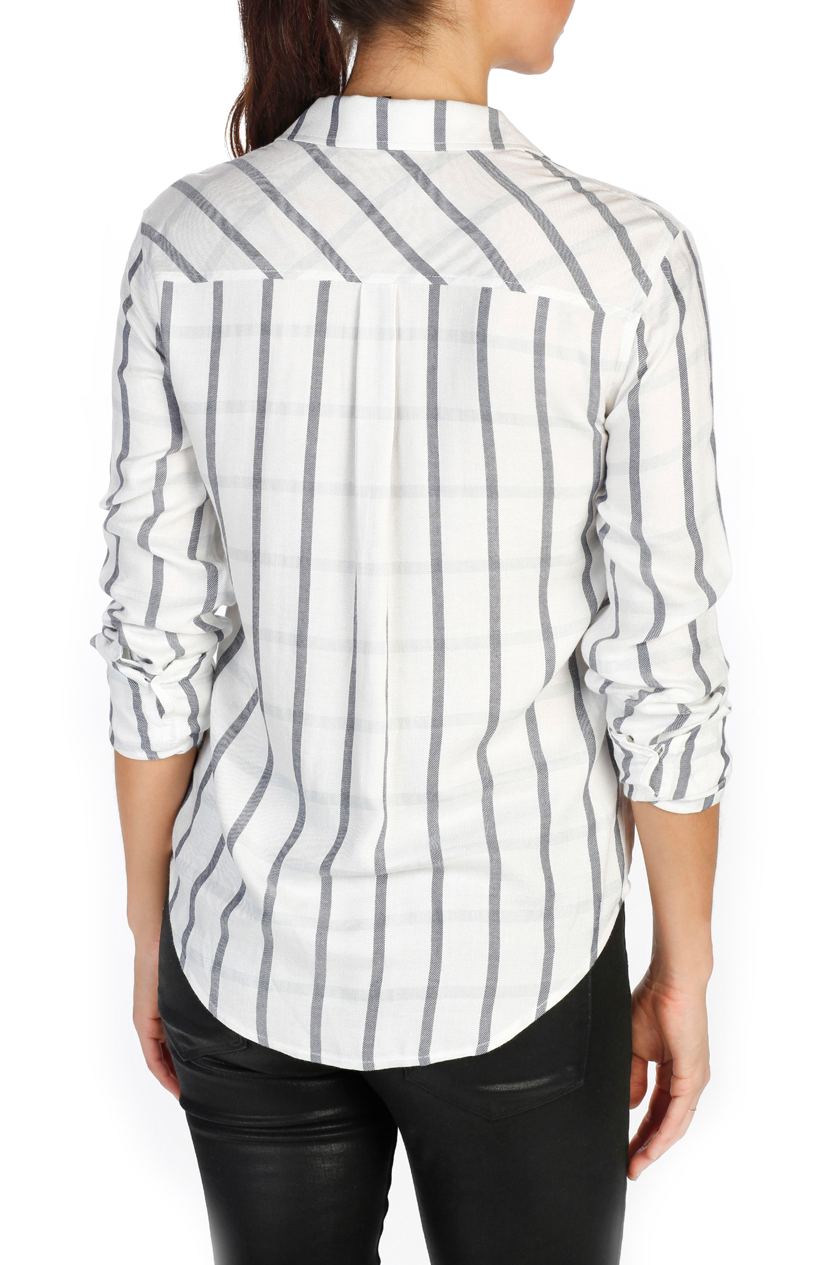 Mya Plaid Cotton Shirt,                             Alternate thumbnail 3, color,