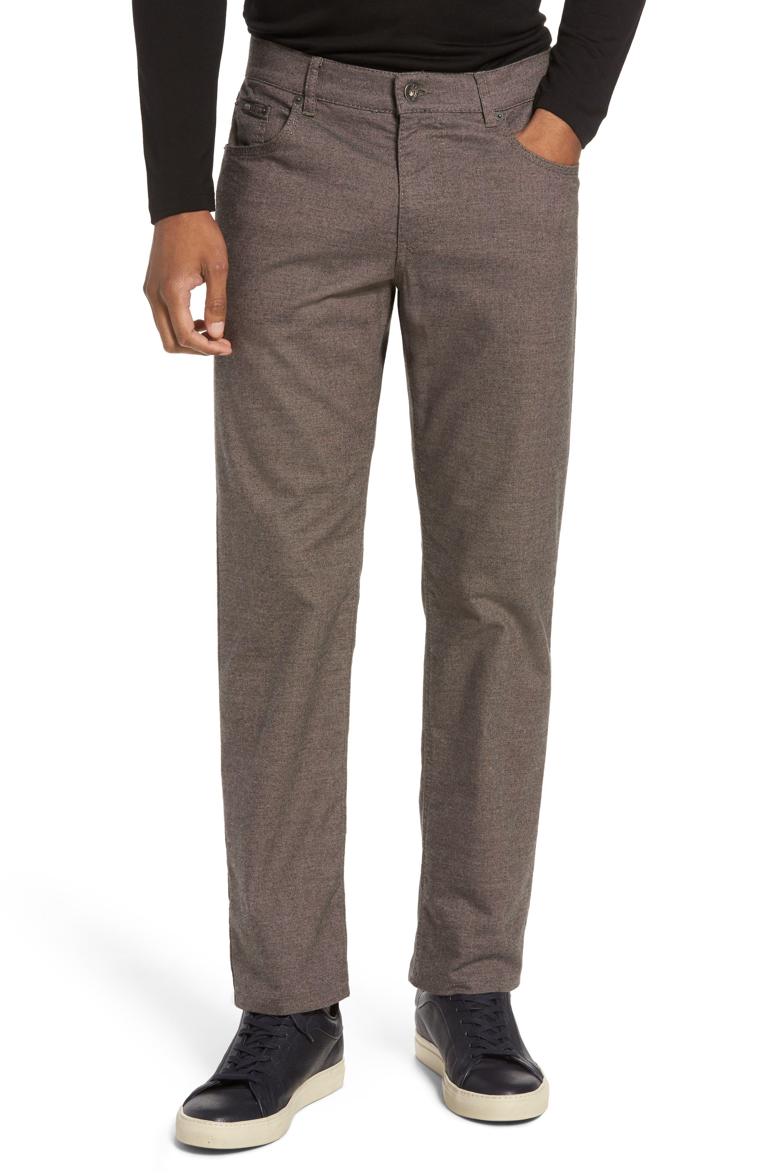Five-Pocket Stretch Cotton Trousers,                             Main thumbnail 4, color,