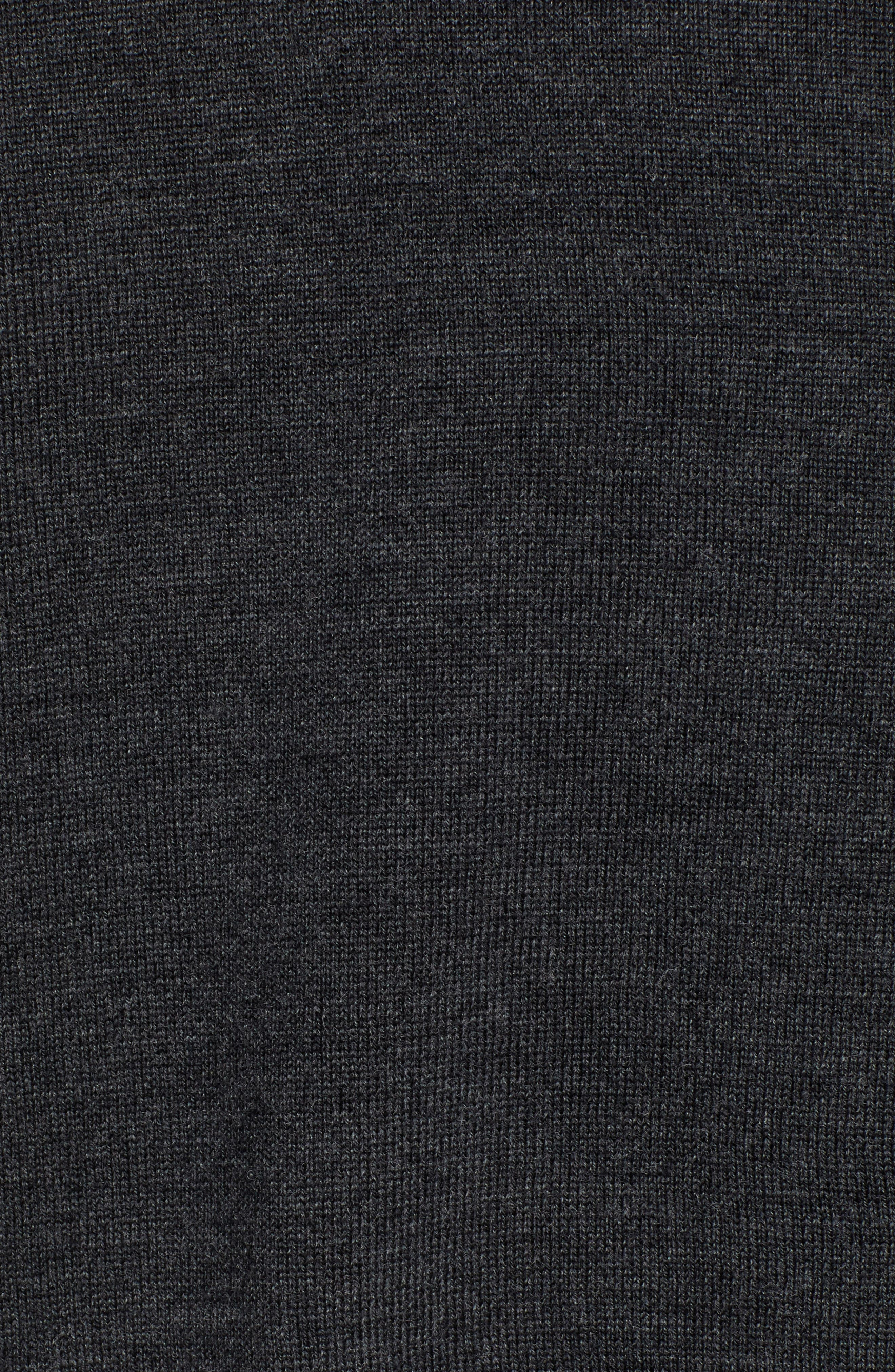 V-Neck Merino Wool Sweater,                             Alternate thumbnail 5, color,                             HEATHER CHARCOAL