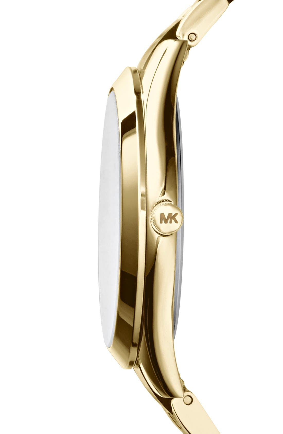 Michael Kors 'Slim Runway' Round Bracelet Watch, 42mm,                             Alternate thumbnail 2, color,                             200