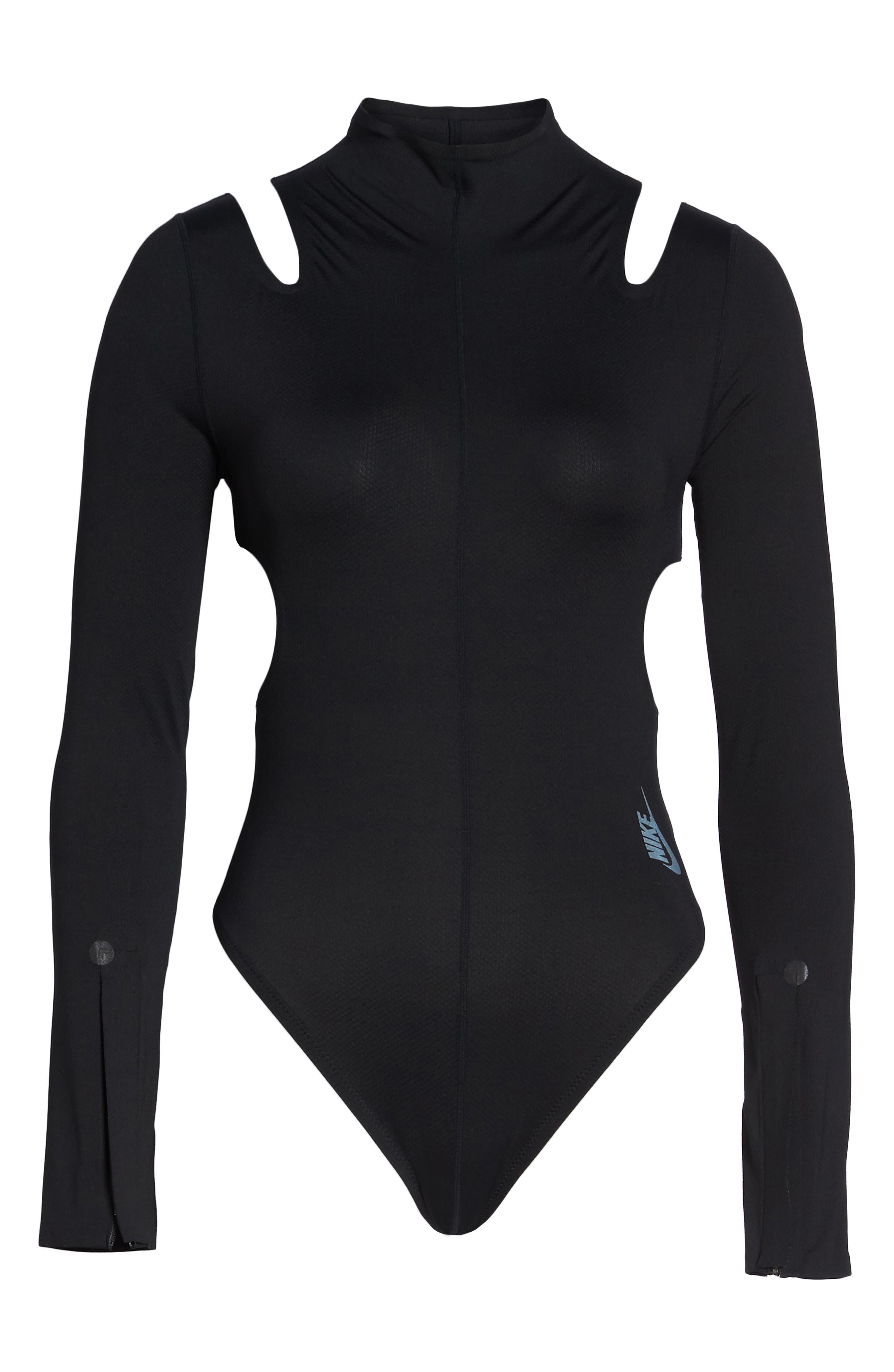 NikeLab XX Women's Dri-FIT Training Bodysuit,                             Alternate thumbnail 8, color,                             BLACK