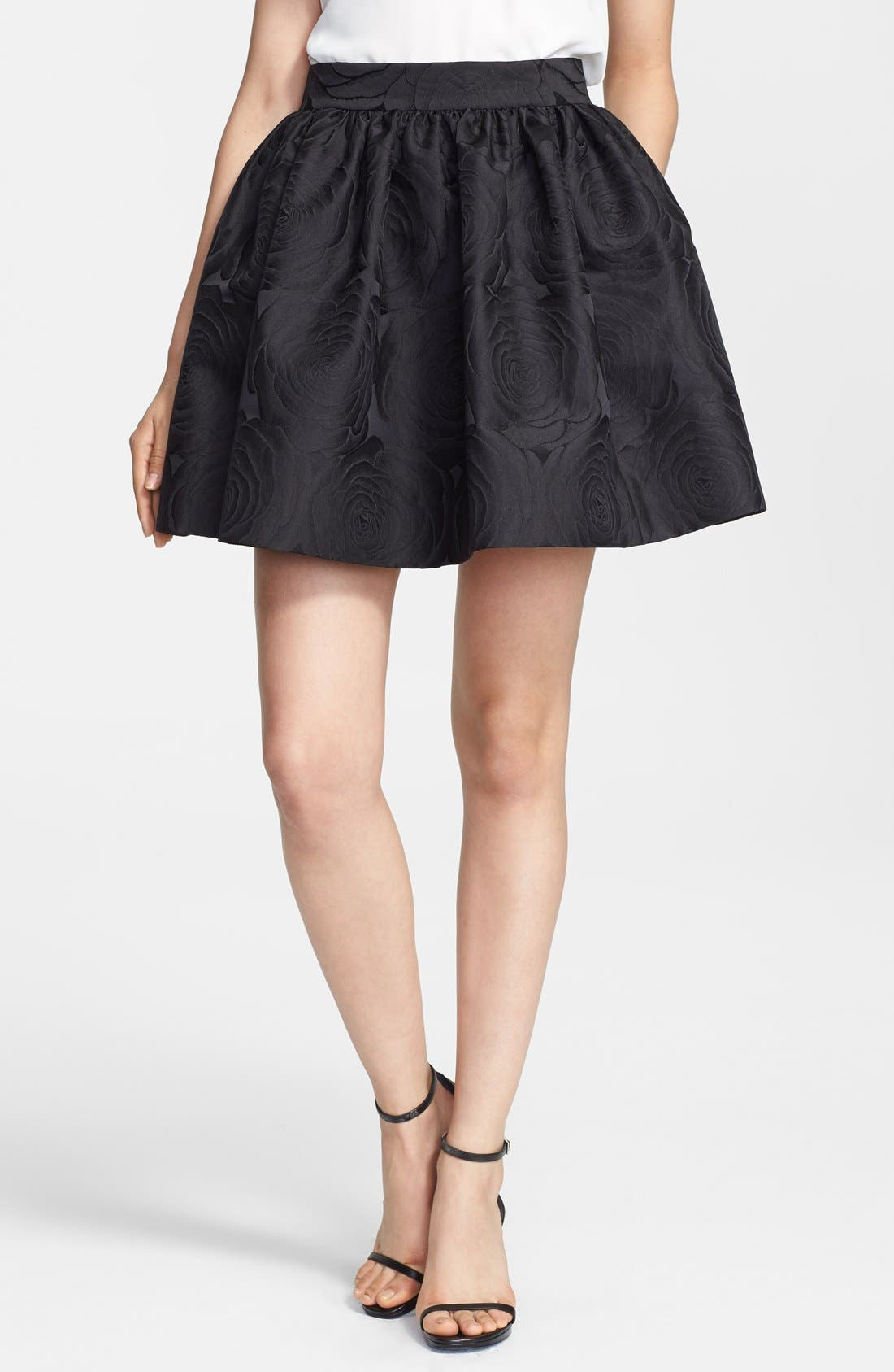jacquard cupcake skirt, Main, color, 001