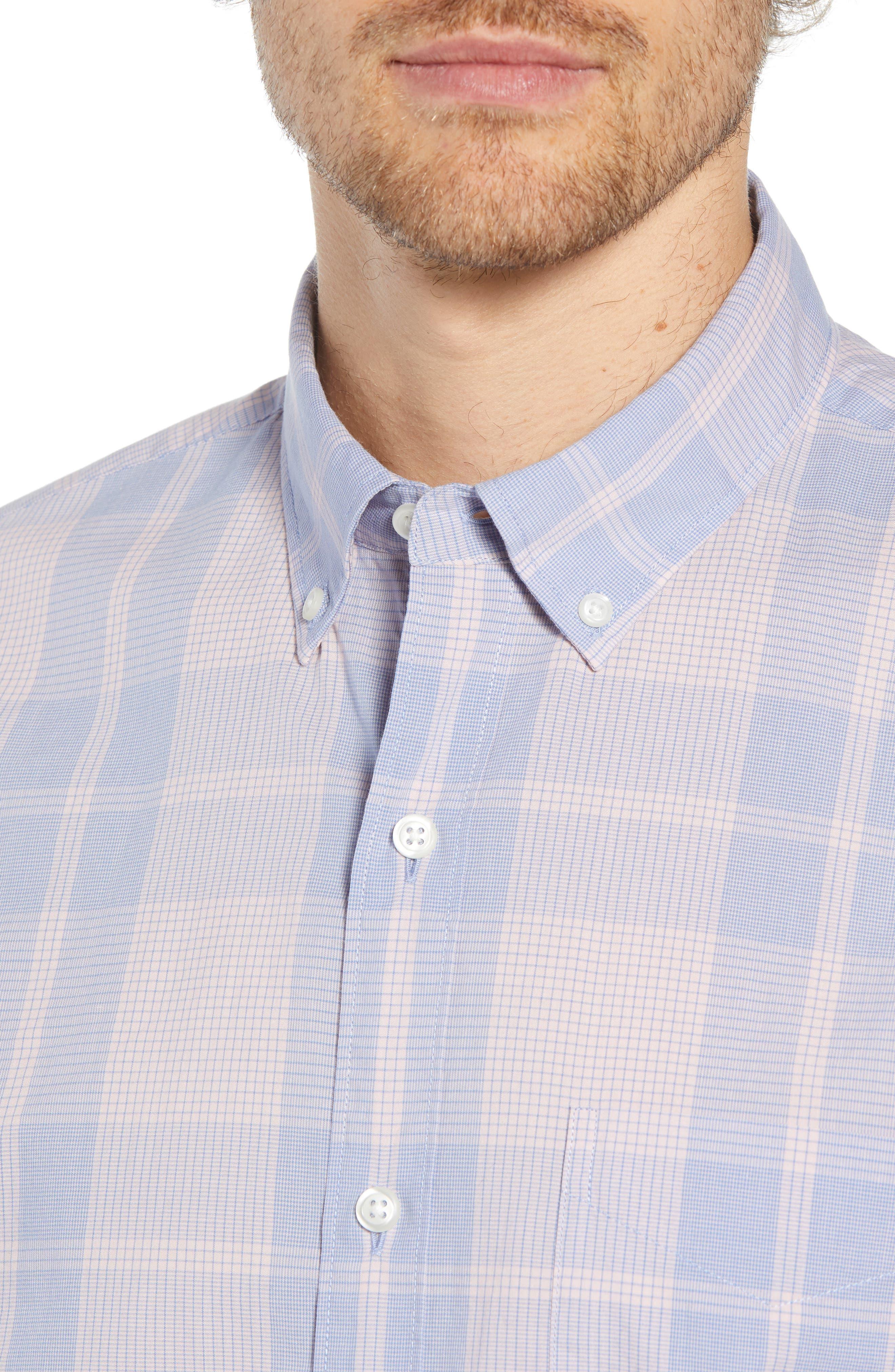 Summerweight Slim Fit Plaid Sport Shirt,                             Alternate thumbnail 2, color,                             650
