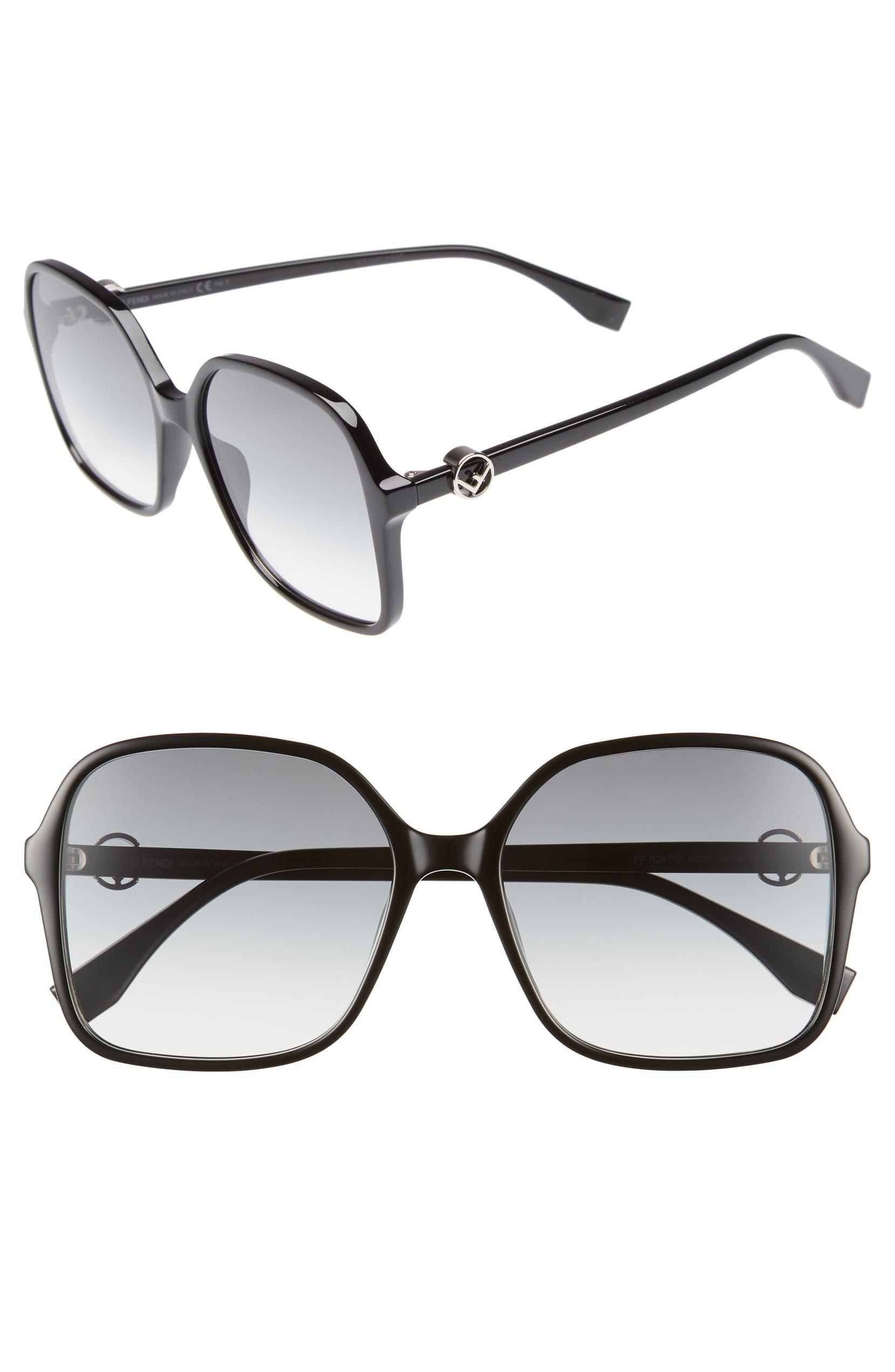 982791a4291 Fendi 58mm Square Sunglasses