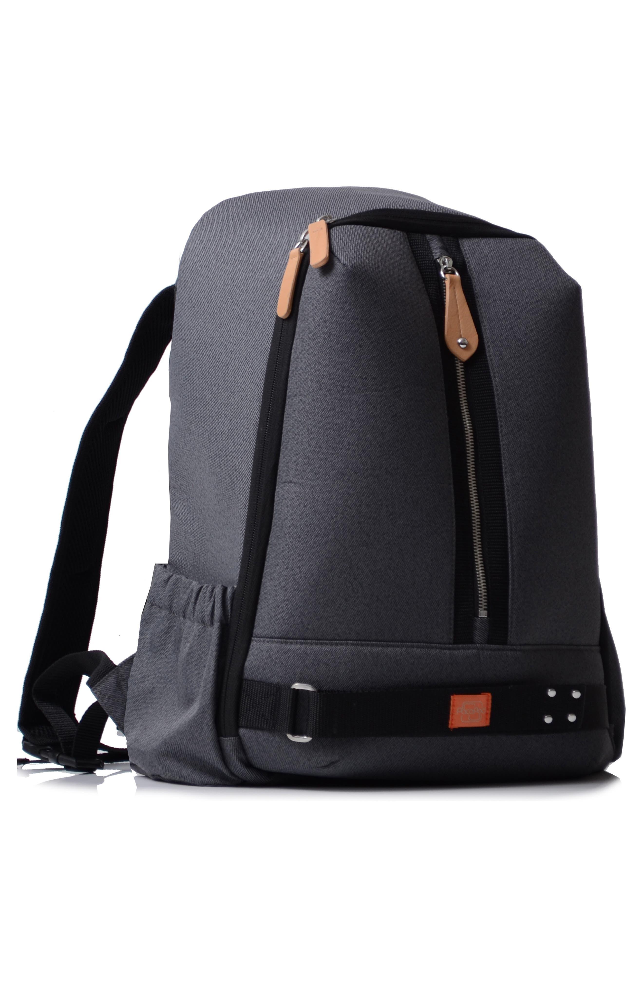 Picos Pack Diaper Backpack,                             Alternate thumbnail 3, color,                             BLACK CHARCOAL
