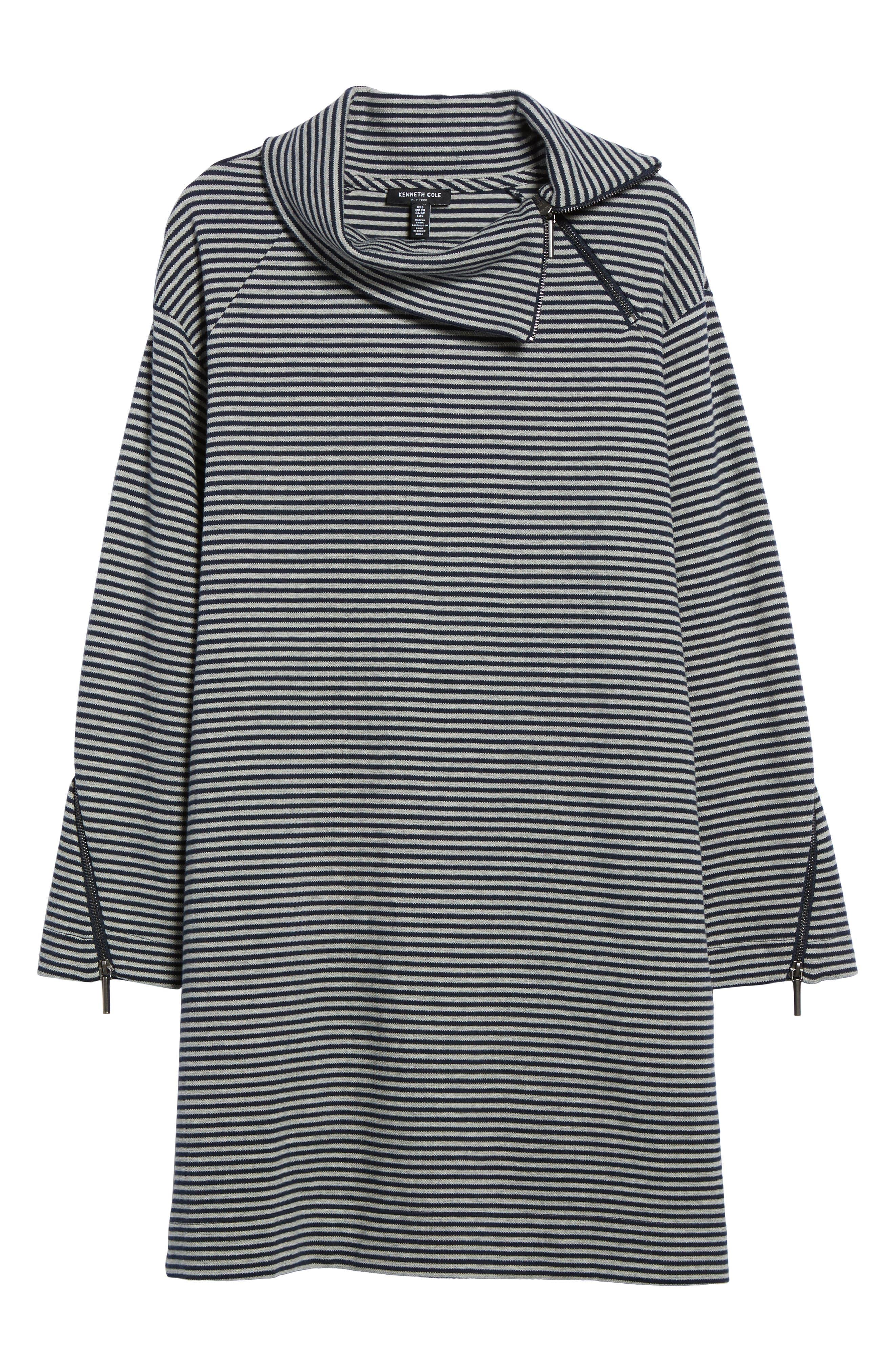Funnel Zip Neck Dress,                             Alternate thumbnail 6, color,                             463