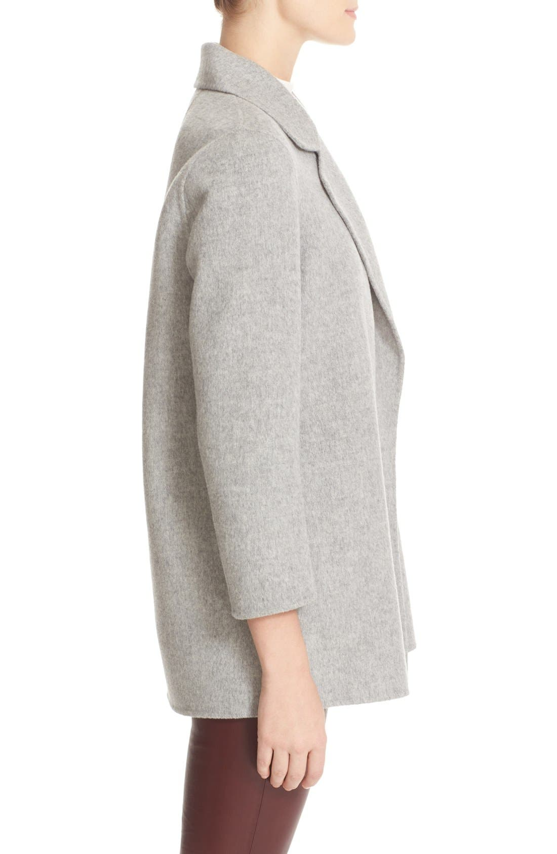 'Clairene New Divide' Wool & Cashmere Open Front Topper,                             Alternate thumbnail 4, color,                             097
