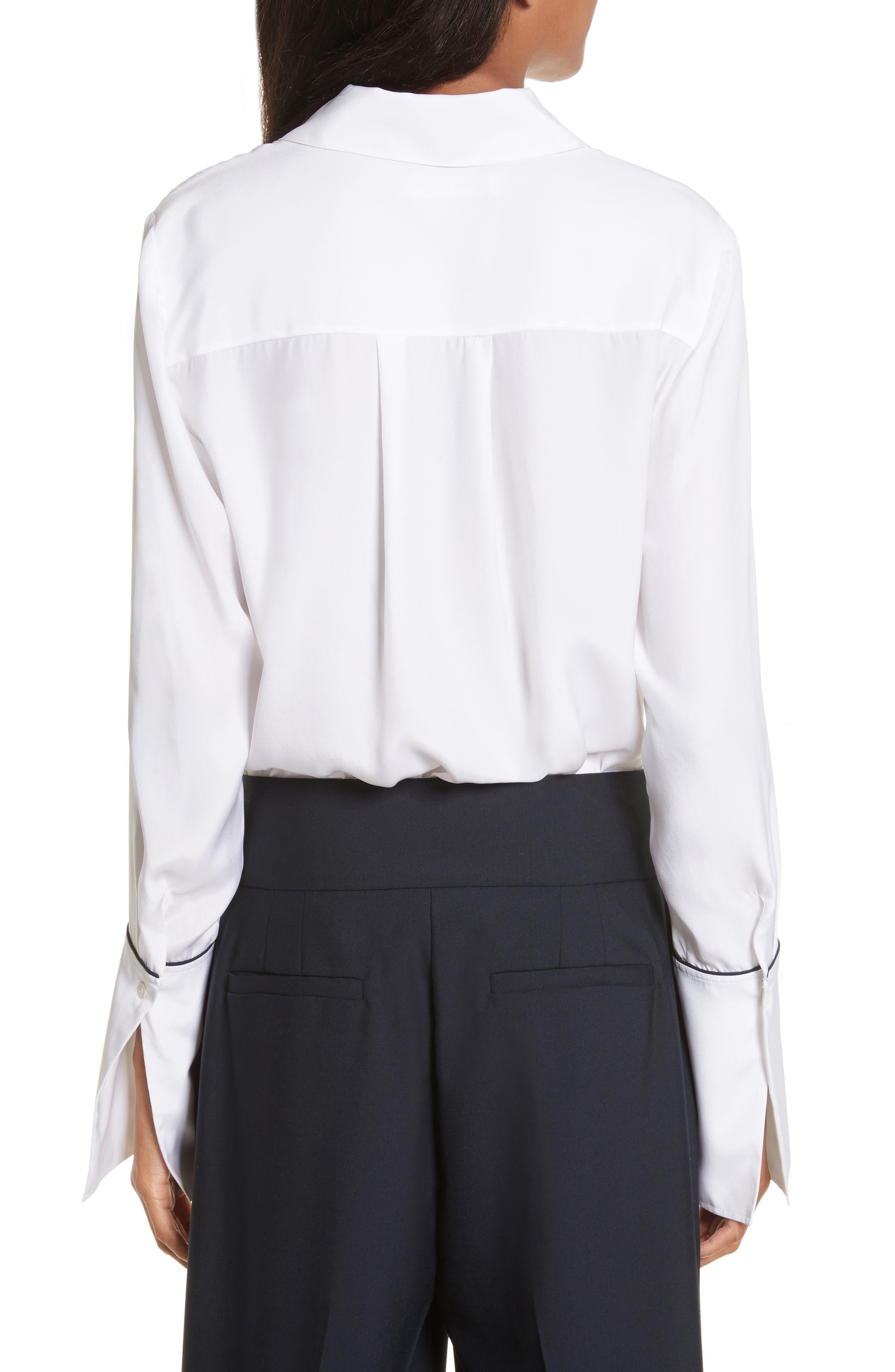 Long Cuff Silk Shirt,                             Alternate thumbnail 2, color,                             120